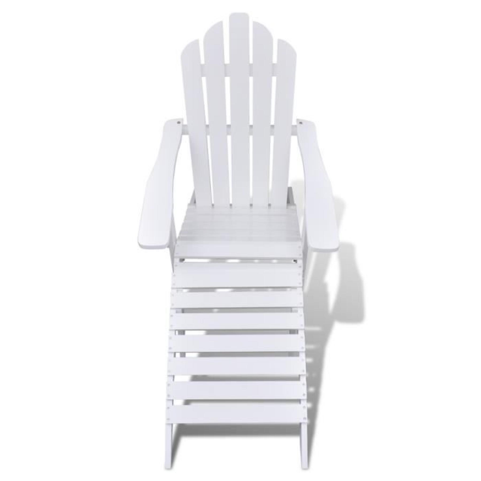 Magnifique Chaise de salon jardin en bois chaise relaxation avec repose-pied