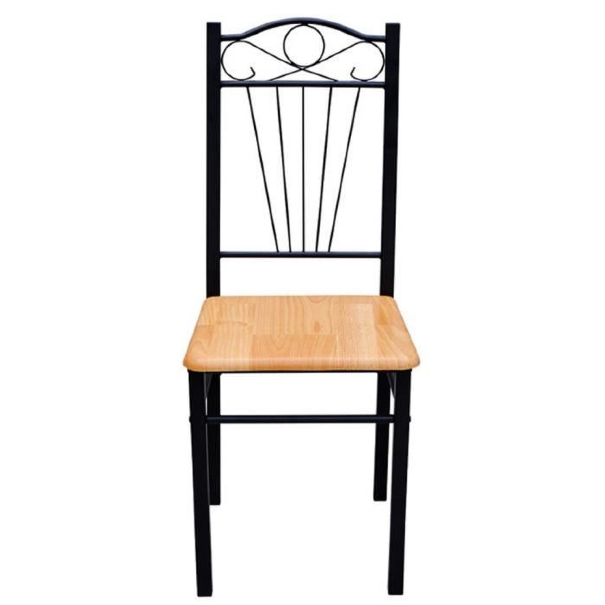 Magnifique Chaise en MDF lot de 2 Achat Vente chaise salle a manger pas cher Couleur et