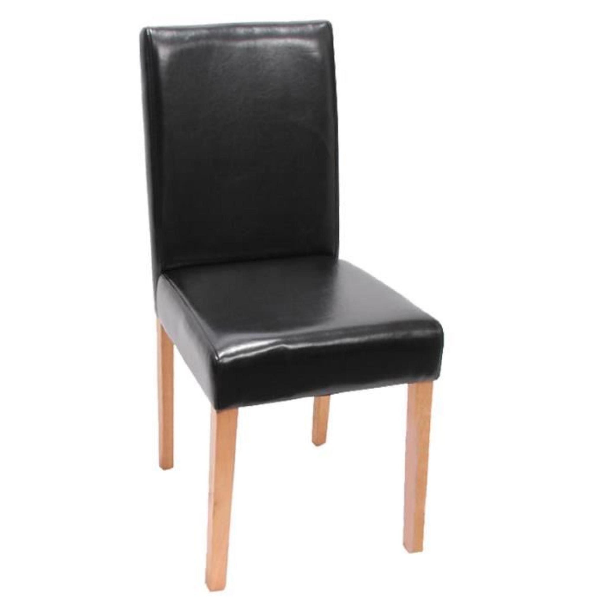 Magnifique Chaises Noir En Similicuir Lot De 4 Pas Cher