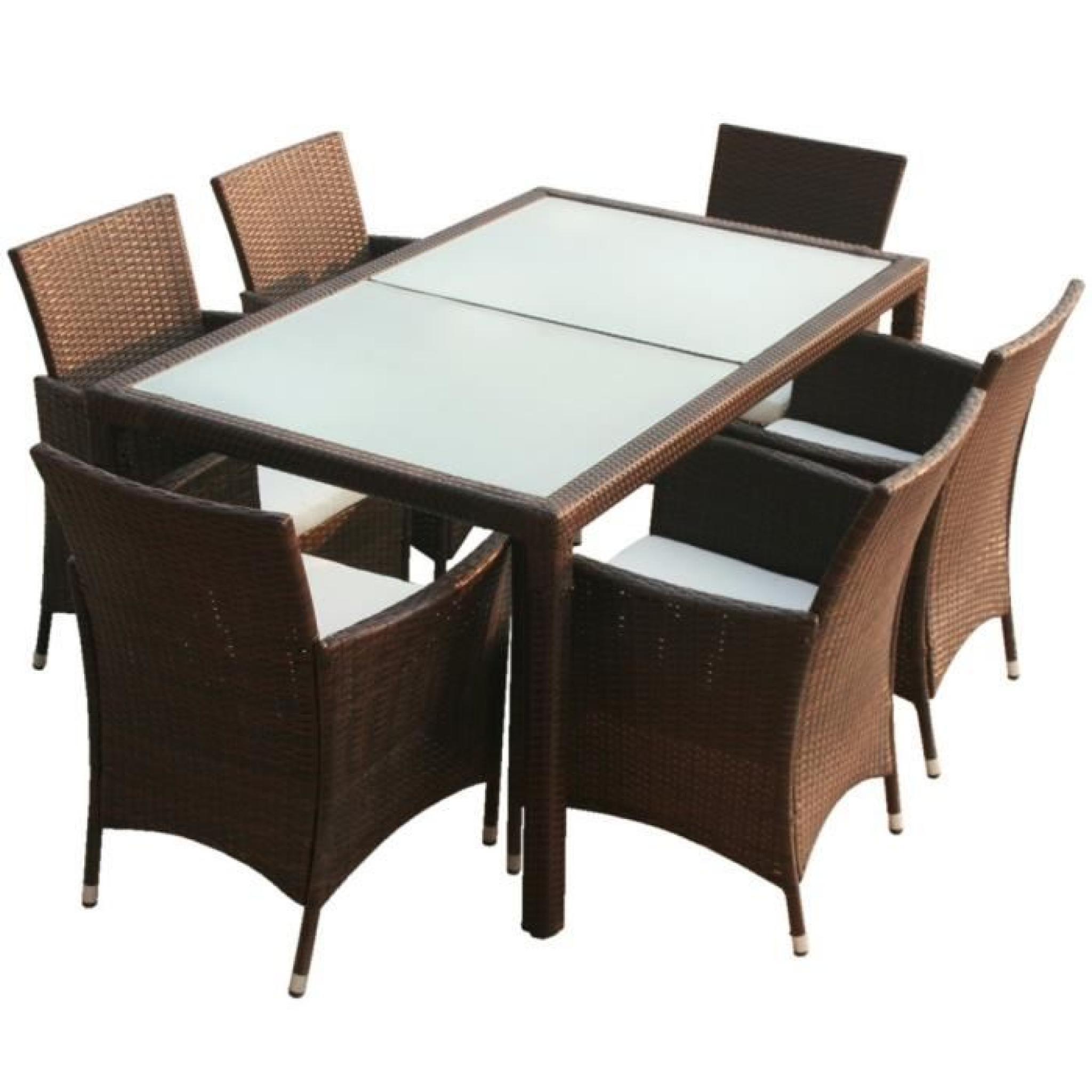 Ensemble Table À Manger Et Chaise Rectangulaire En Osier