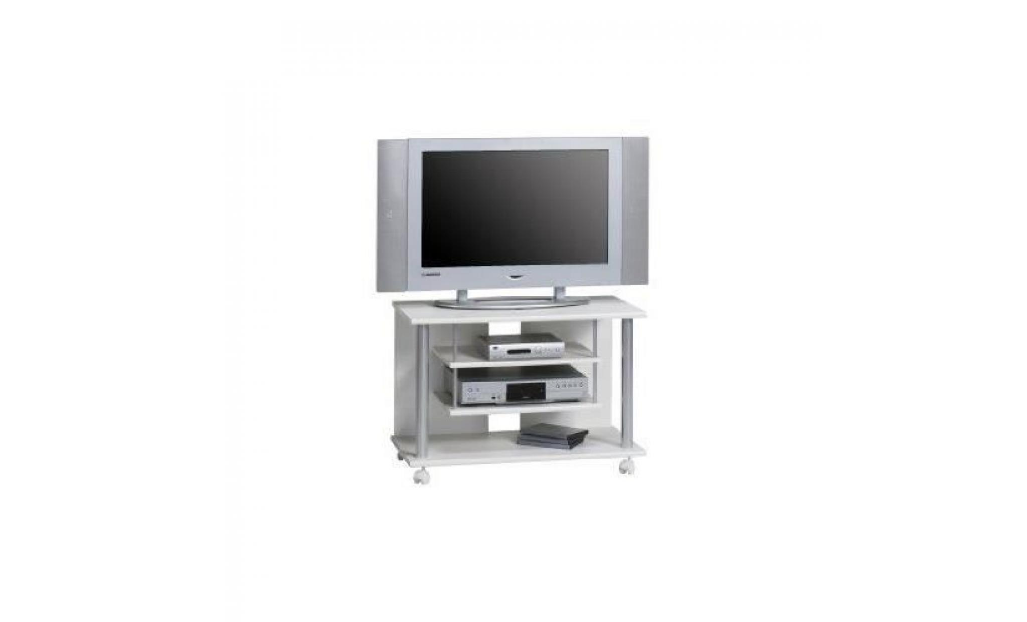 Maja 18988835 Meuble Tv A Roulettes 800 X 545 X 400 Mm Blanc Uni  # Meuble Tv A Roulette Pas Cher