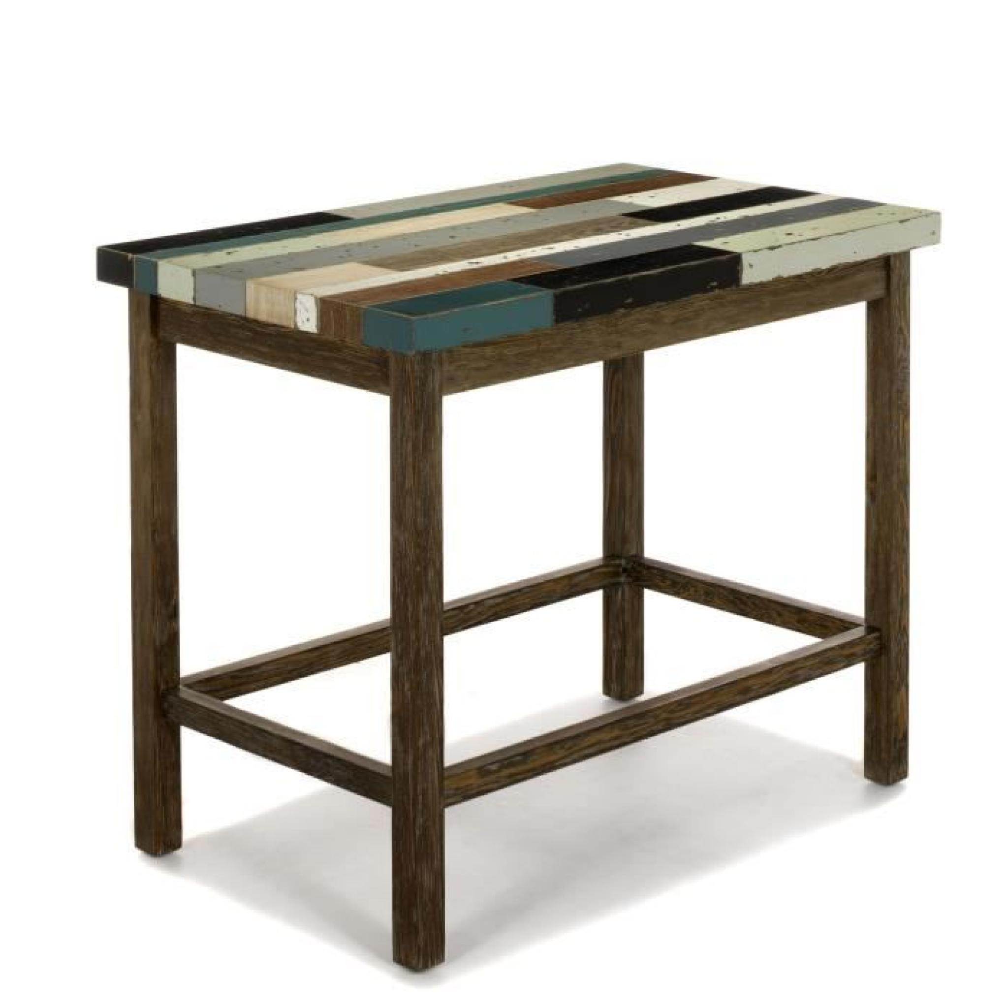 Manaka table haute bar rectangulaire achat vente table for Achat table bar