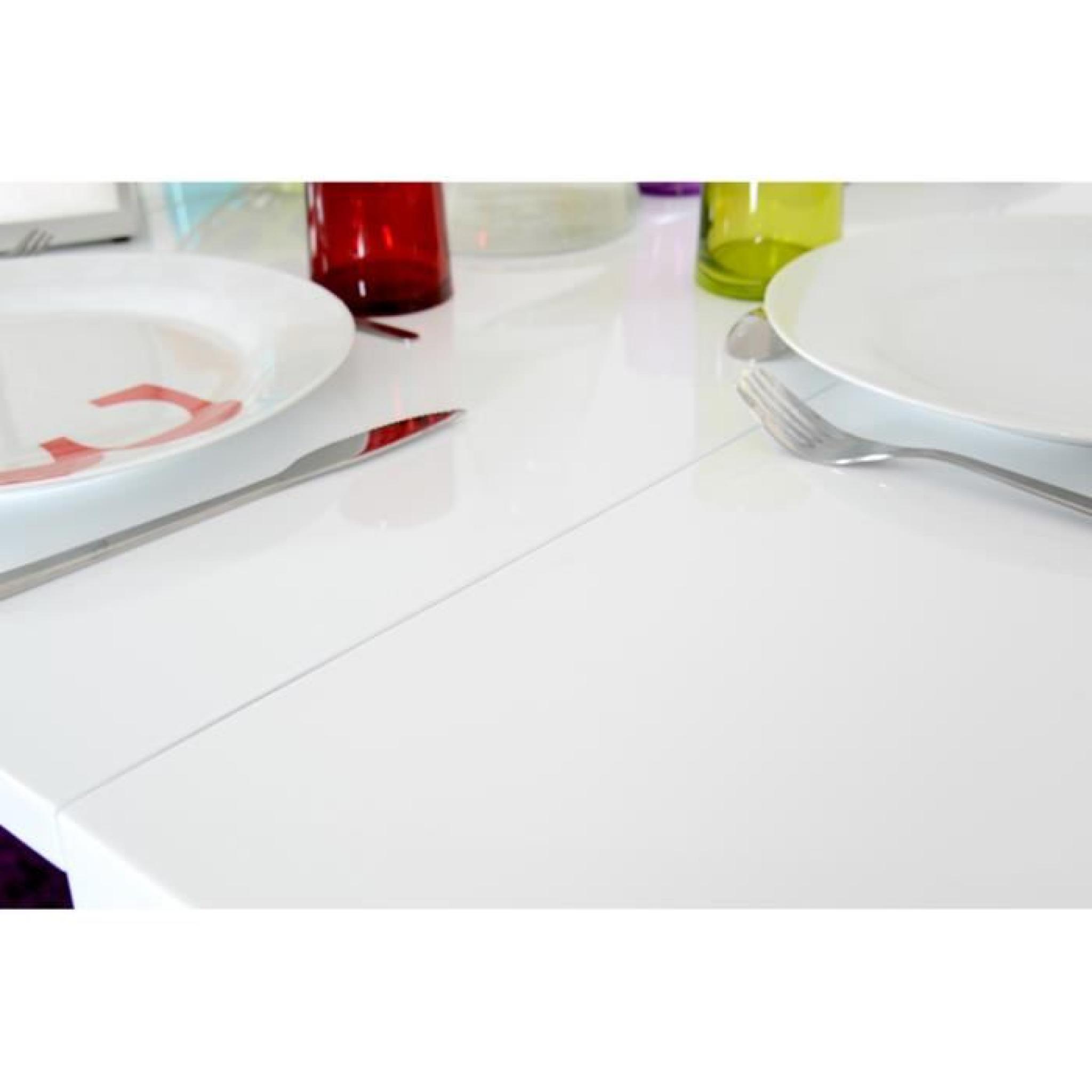 Mange debout blanc extensible 2 rallonges / mdf laqué jimi   achat ...