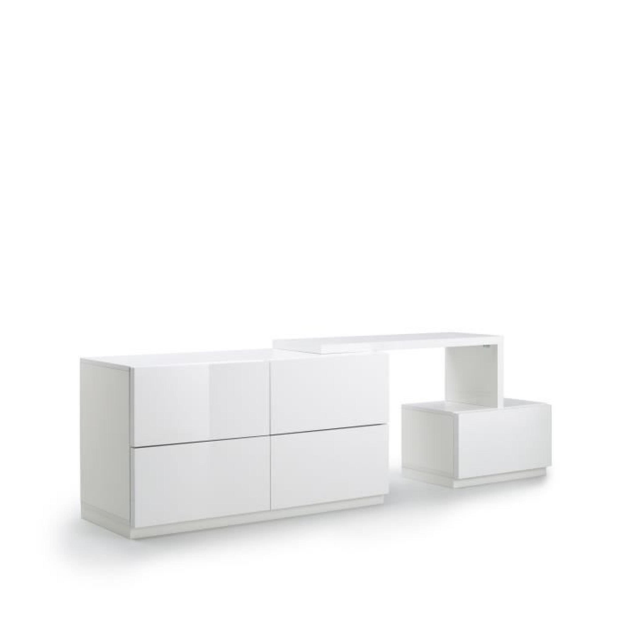 marina console blanc laqu achat vente console meuble pas cher couleur et. Black Bedroom Furniture Sets. Home Design Ideas