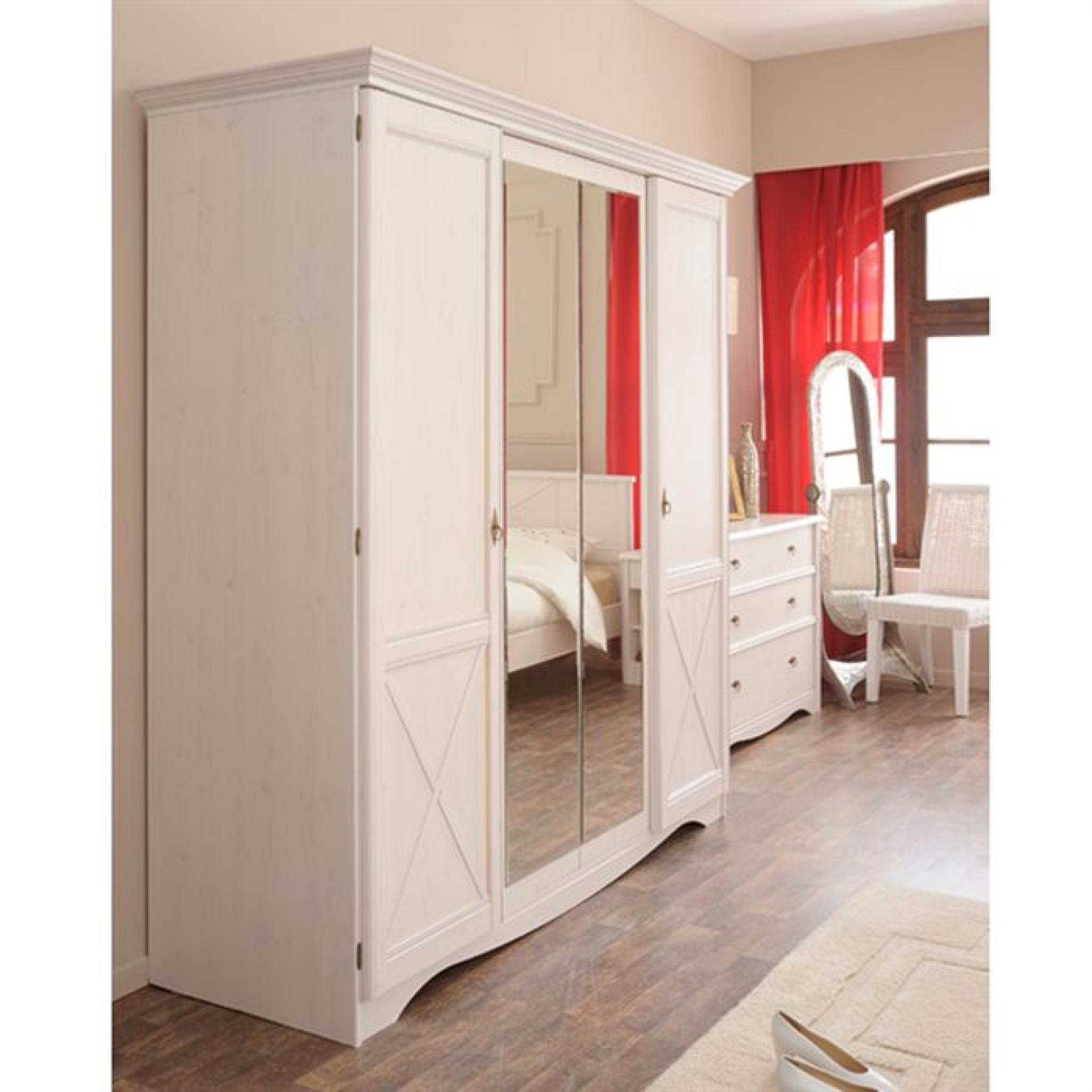 marine armoire 4 portes achat vente armoire de chambre. Black Bedroom Furniture Sets. Home Design Ideas