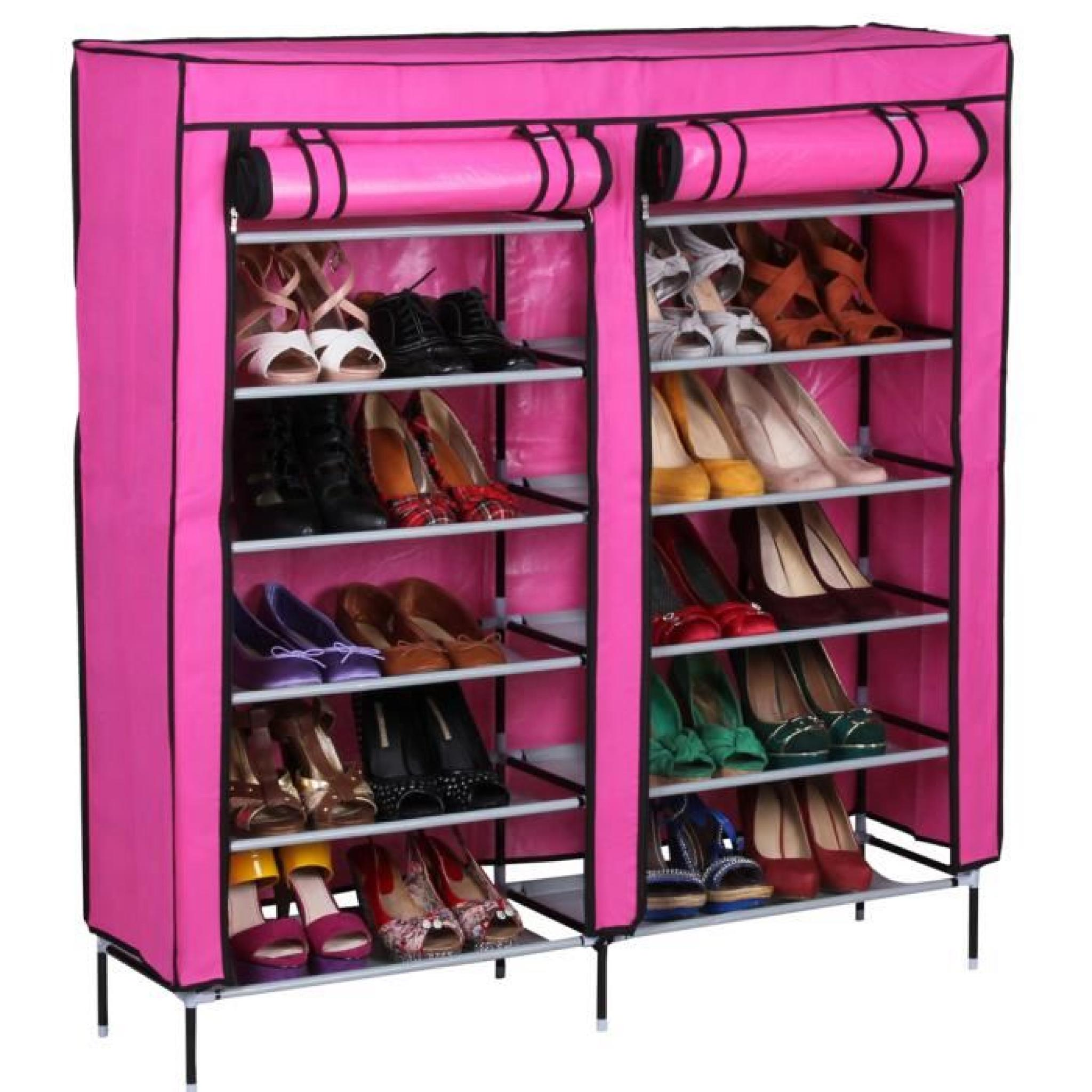 Meuble Chaussures Couleur Rose Dim 118 X 110 X 30 Cm