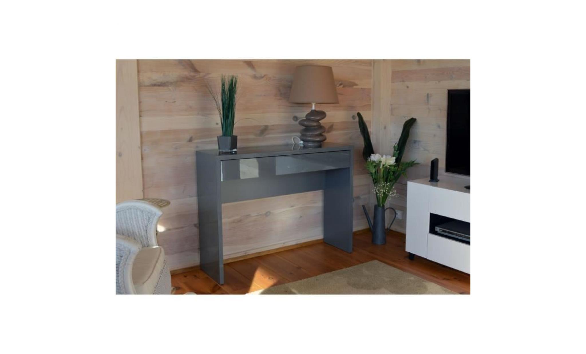 meuble d'entrée, console arena coloris gris. meuble design pour votre entrée