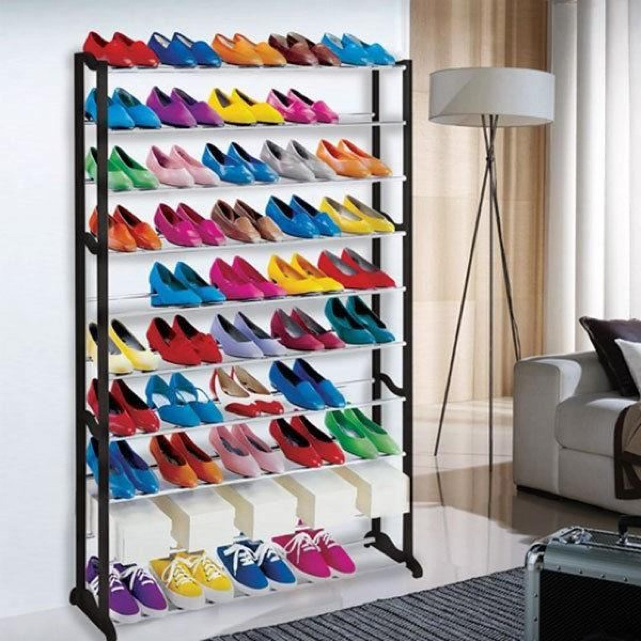 meuble organisateur range chaussures 50 paires tag re. Black Bedroom Furniture Sets. Home Design Ideas