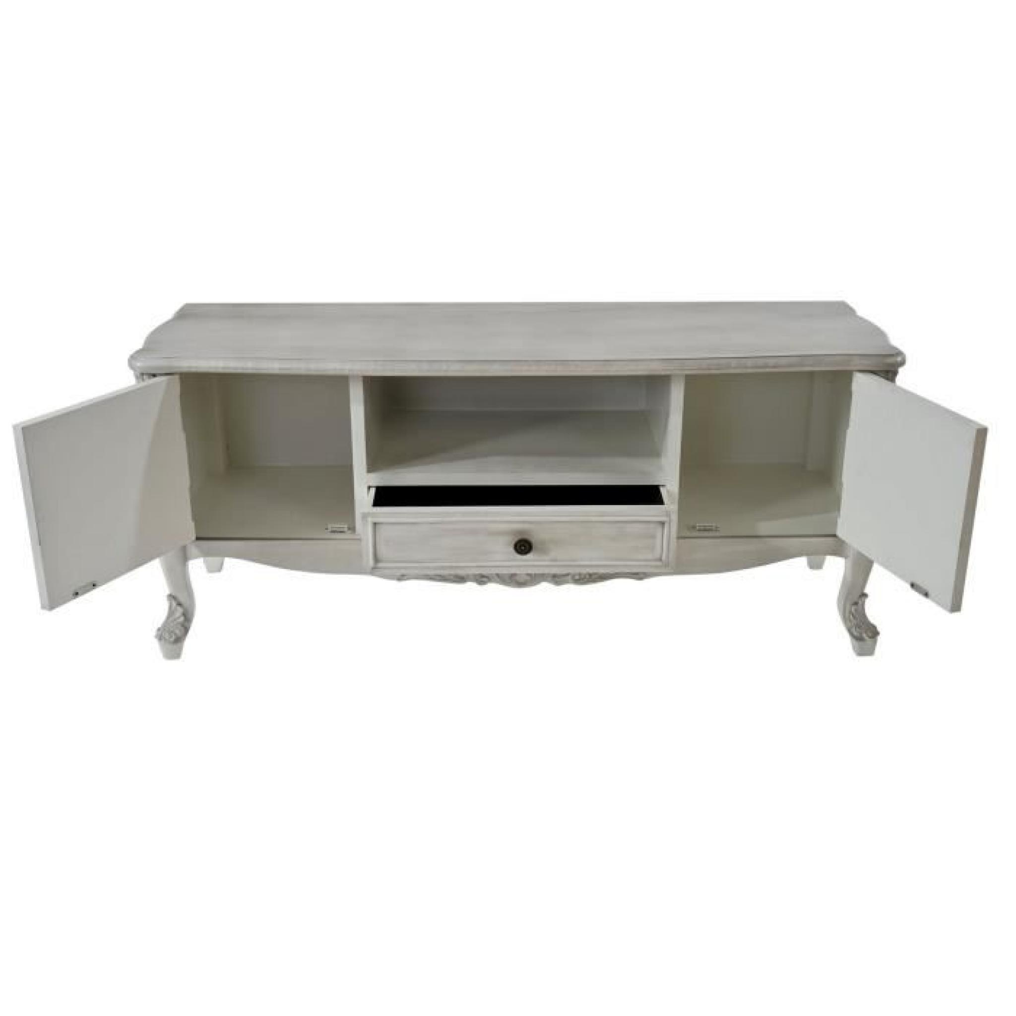 meuble tv barletta tag re table d 39 appoint style antique baroque 54x122x42cm blanc shabby. Black Bedroom Furniture Sets. Home Design Ideas