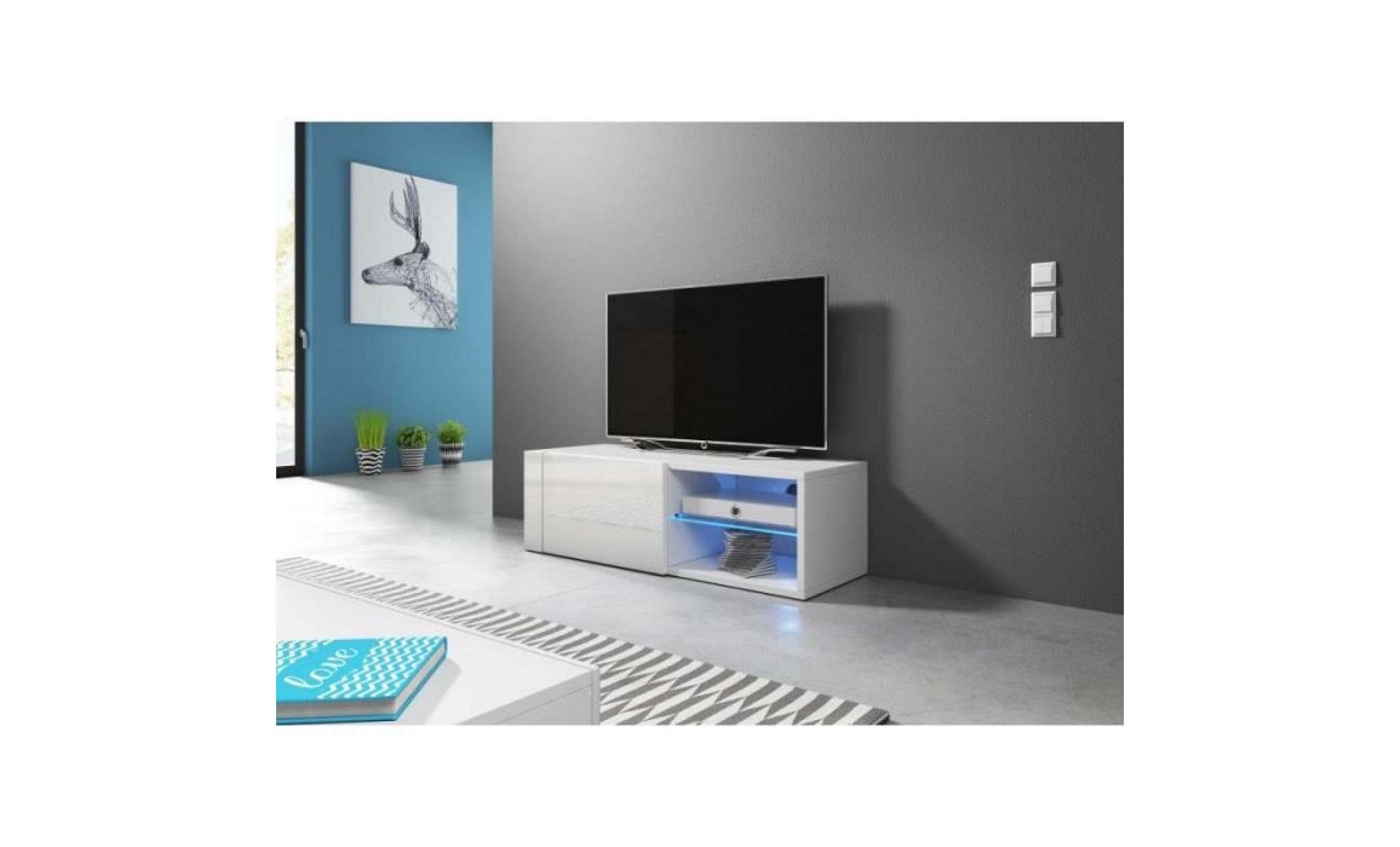 Bahut Tv 160 Cm Finition Melamine Brest Coloris Chene Vente De Meuble Et Support Tv Conforama