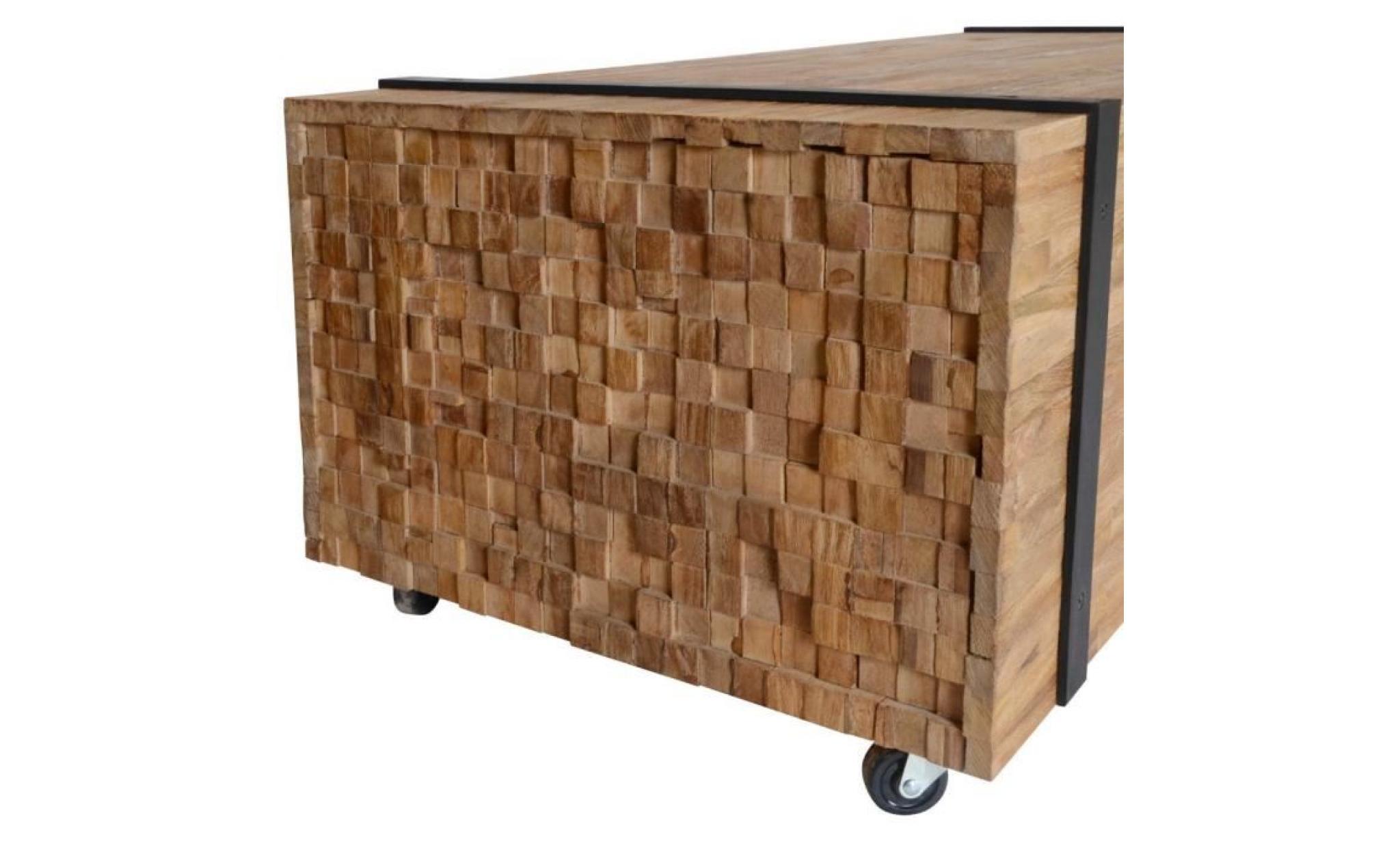 meuble tv en bois de teck a un style industriel unique qui en fait un  excellent ajout à votre décor de salon.