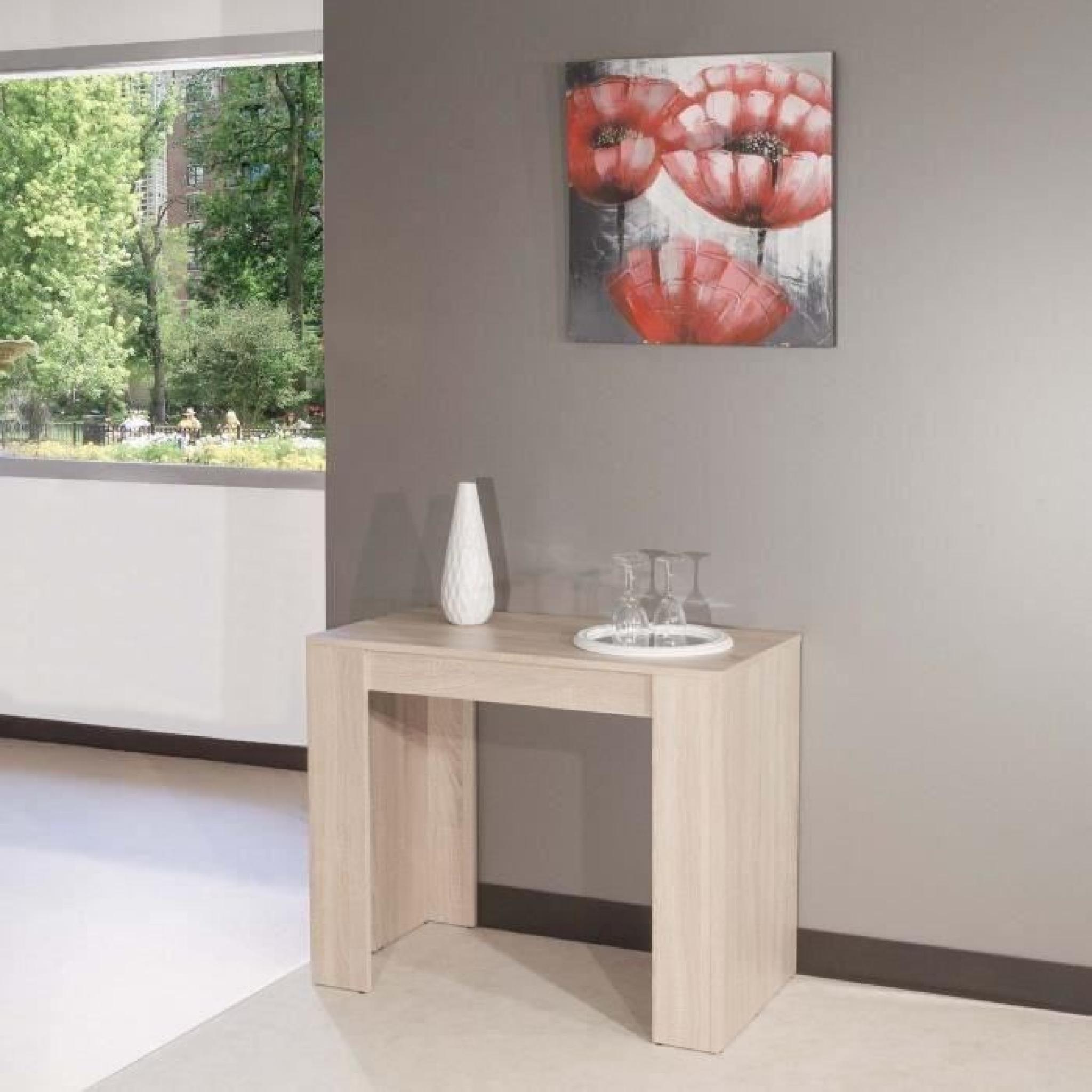 mexx table console extensible 198cm coloris ch ne achat vente ensemble salle a manger pas cher. Black Bedroom Furniture Sets. Home Design Ideas