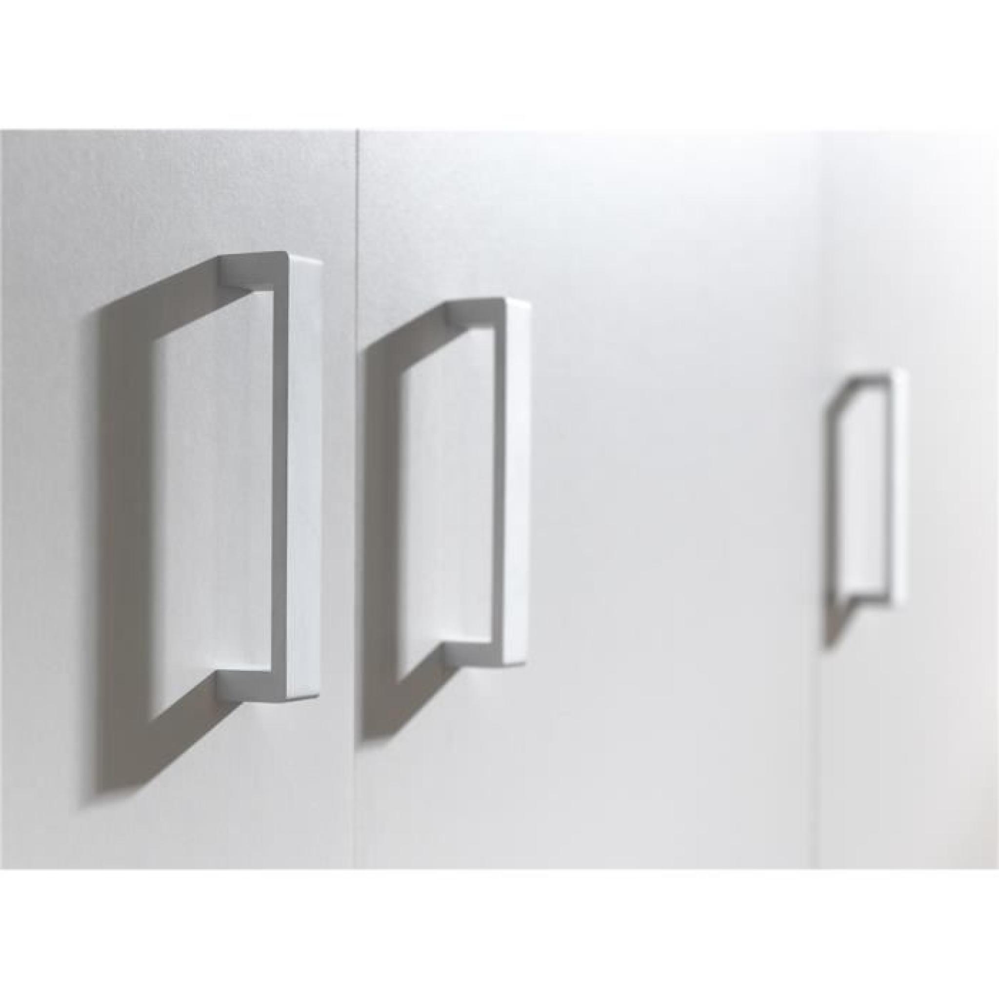 Milan armoire 2 portes blanche achat vente armoire de chambre pas cher co - Armoir blanche pas cher ...