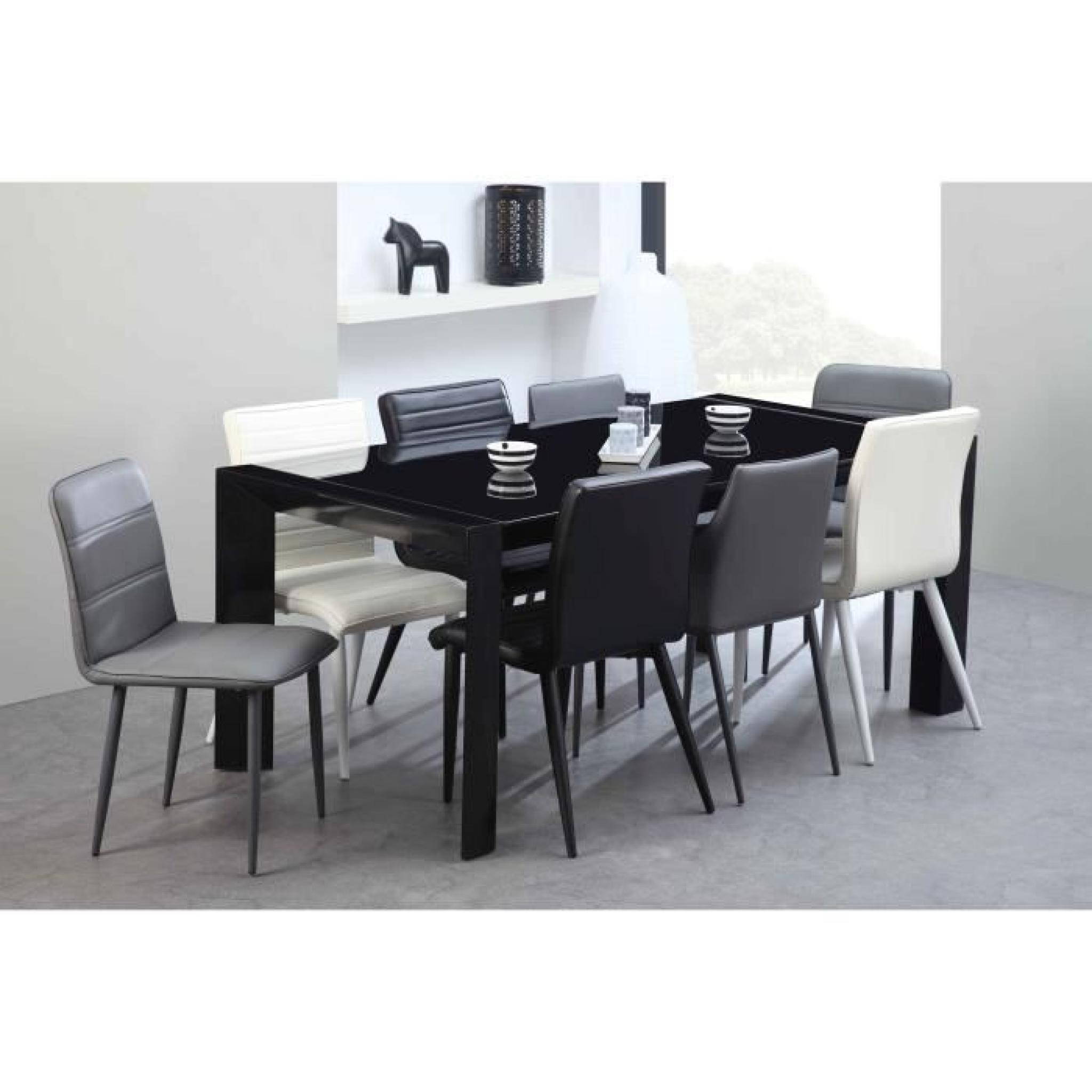 Extensible À 270cm Milano 180 Table Verre Noir Nvn0wm8O