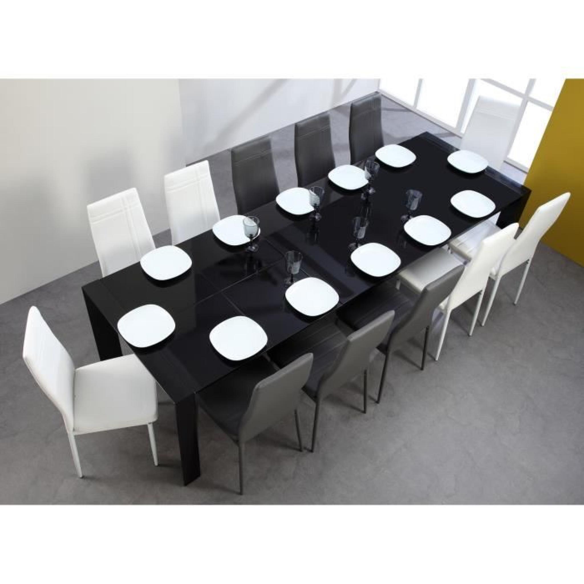 Verre Milano 180 Extensible Noir 270cm Table À 3ALj4R5