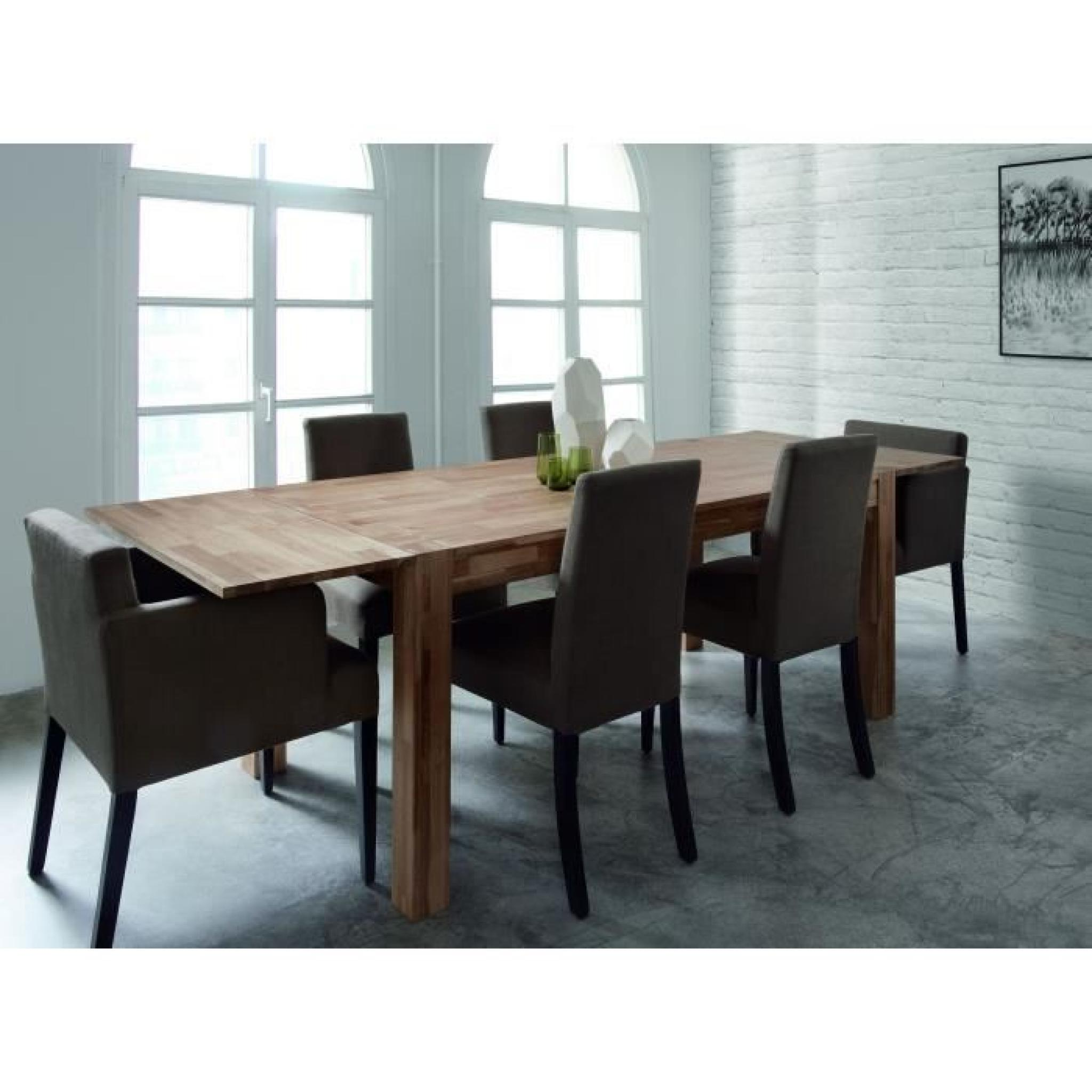miles table extensible ch ne massif 150 230cm achat vente table salle a manger pas cher. Black Bedroom Furniture Sets. Home Design Ideas