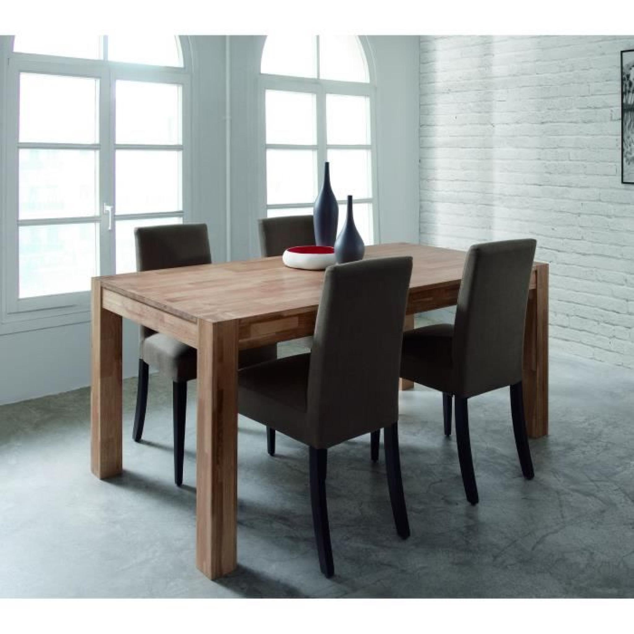 #5D4033 MILES Table Extensible Chêne Massif 150/230cm Achat  5103 salle a manger chene massif pas cher 2048x2048 px @ aertt.com