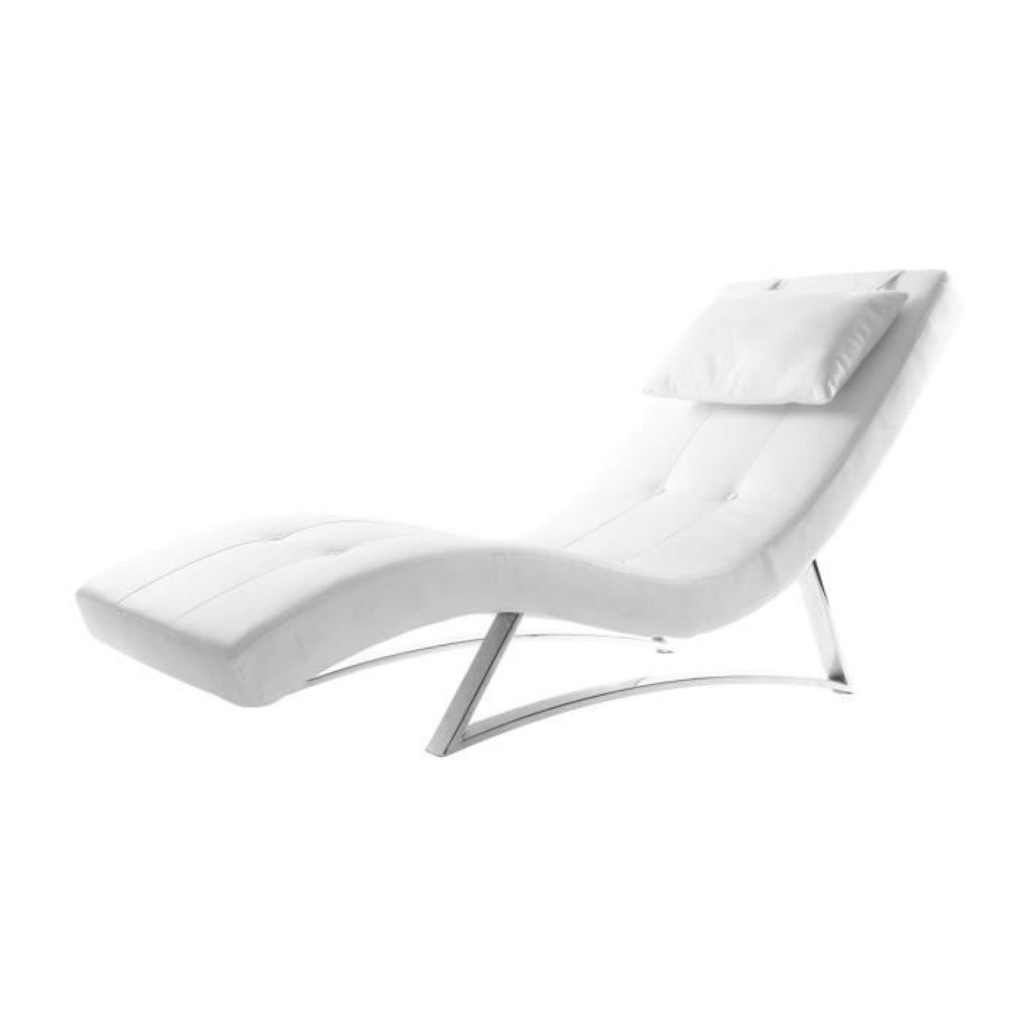 Miliboo Design Chaise Monaco Longue Blanc 4jARcq35LS