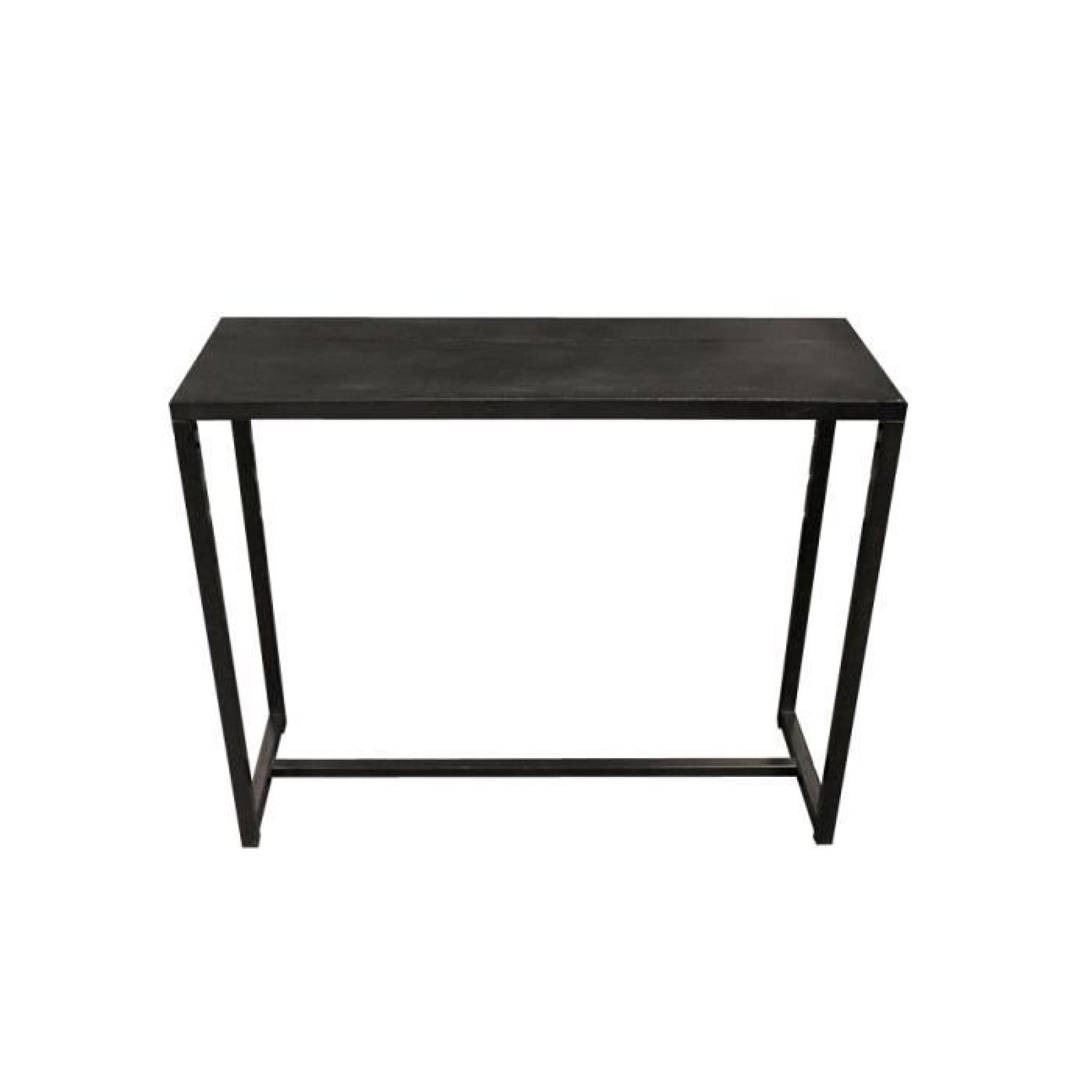 miliboo console industrielle en m tal et b to achat vente console meuble pas cher couleur. Black Bedroom Furniture Sets. Home Design Ideas