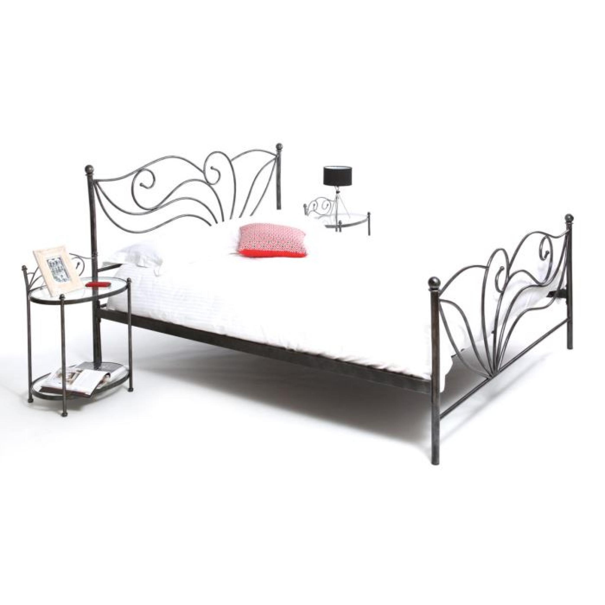 miliboo lit 160x200 baroque noir venezia achat vente lit pas cher couleur et. Black Bedroom Furniture Sets. Home Design Ideas