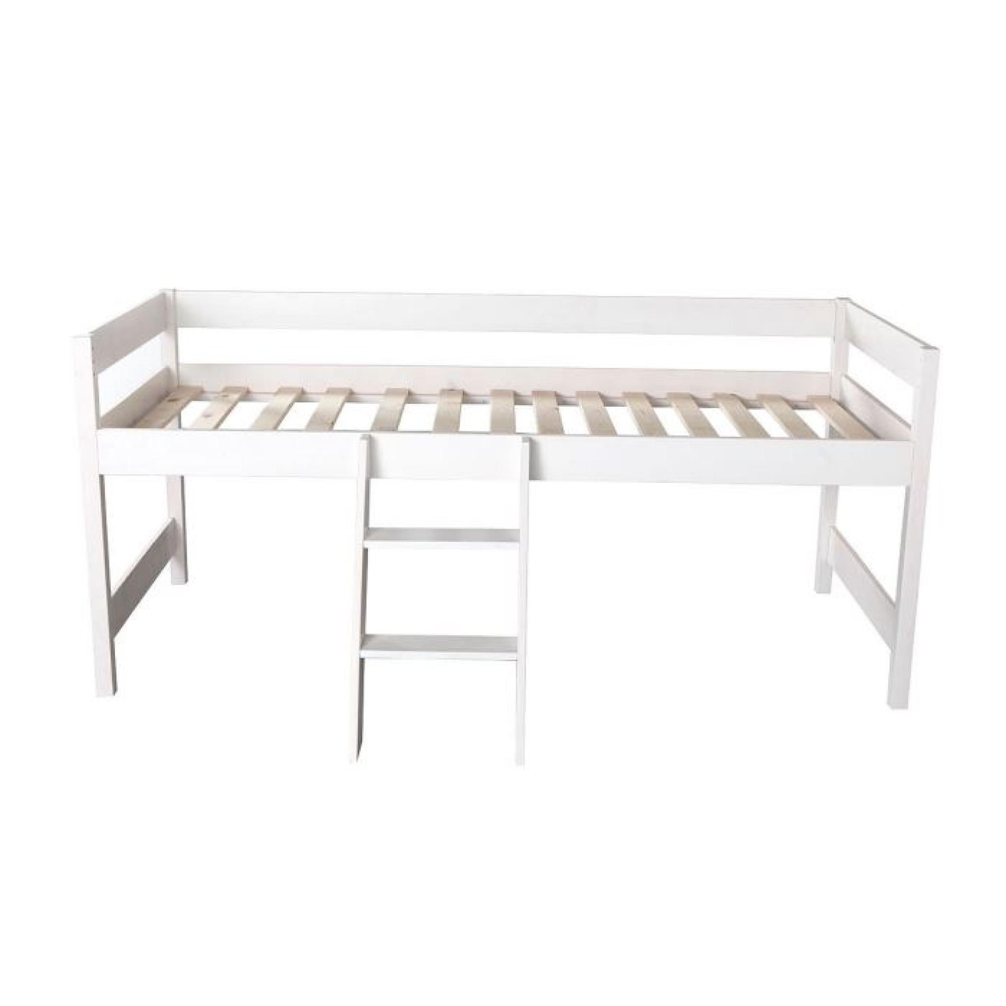 miliboo lit cabane enfant blanc little house achat vente lit enfant pas cher couleur et. Black Bedroom Furniture Sets. Home Design Ideas