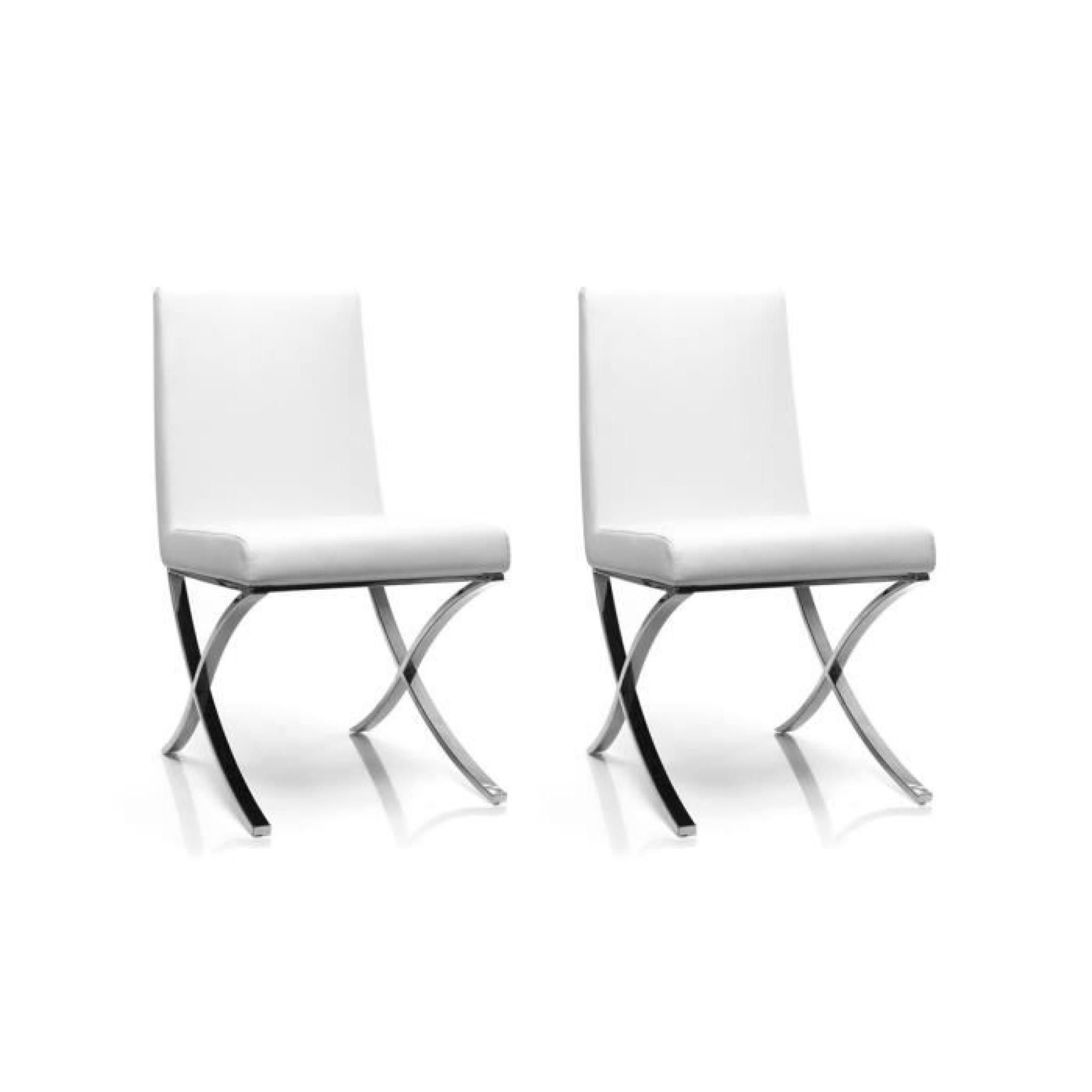 miliboo lot de 2 chaises design polyur thane achat vente chaise salle a manger pas cher. Black Bedroom Furniture Sets. Home Design Ideas