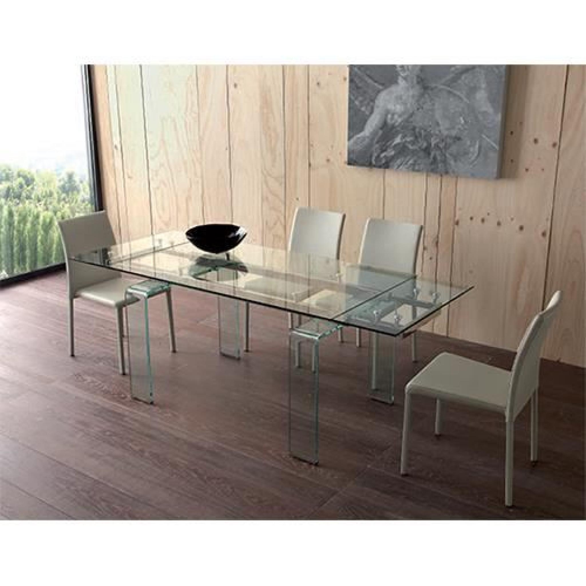 Mini calice table de repas extensible verre avec 2 allonges achat vente t - Table salle a manger extensible pas cher ...