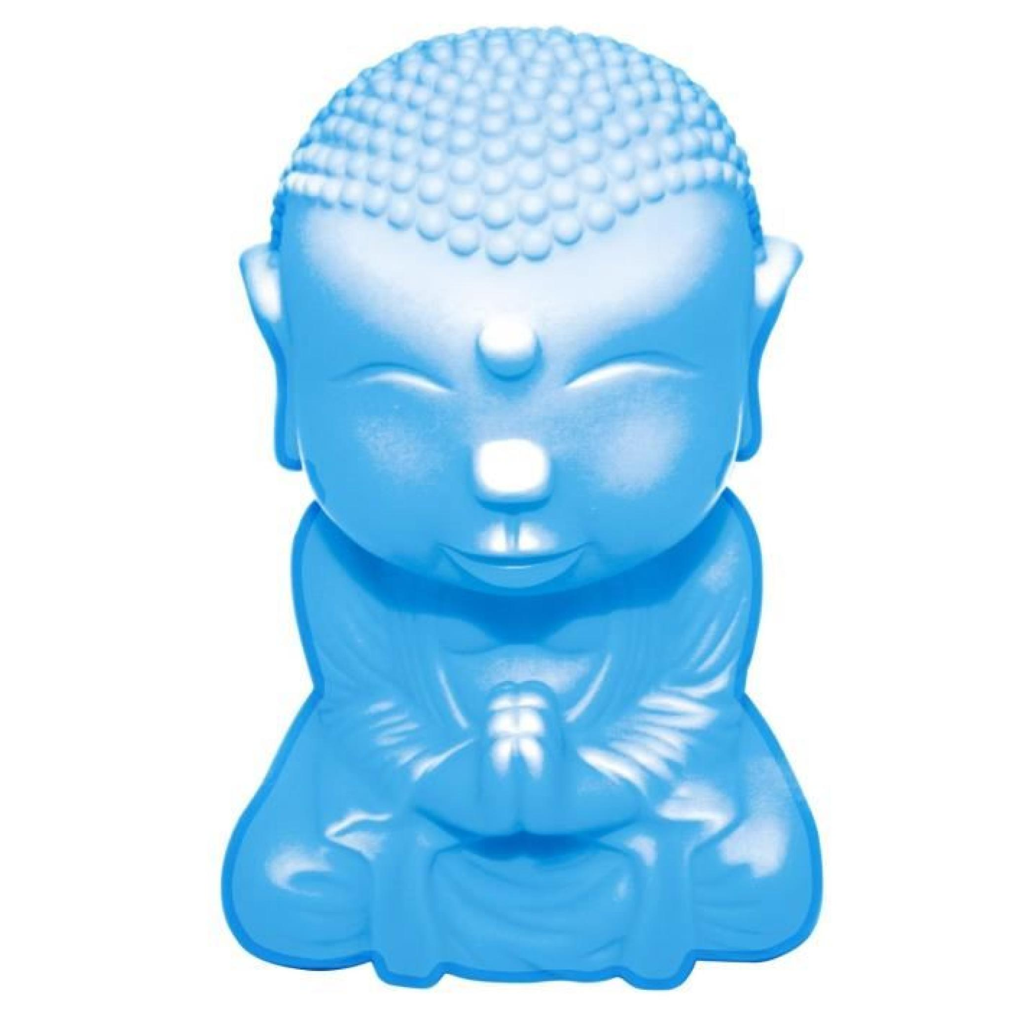 mini lampe bouddha bleu luminaire d 39 ambiance zen cadeau bouddha achat vente lampe a poser. Black Bedroom Furniture Sets. Home Design Ideas