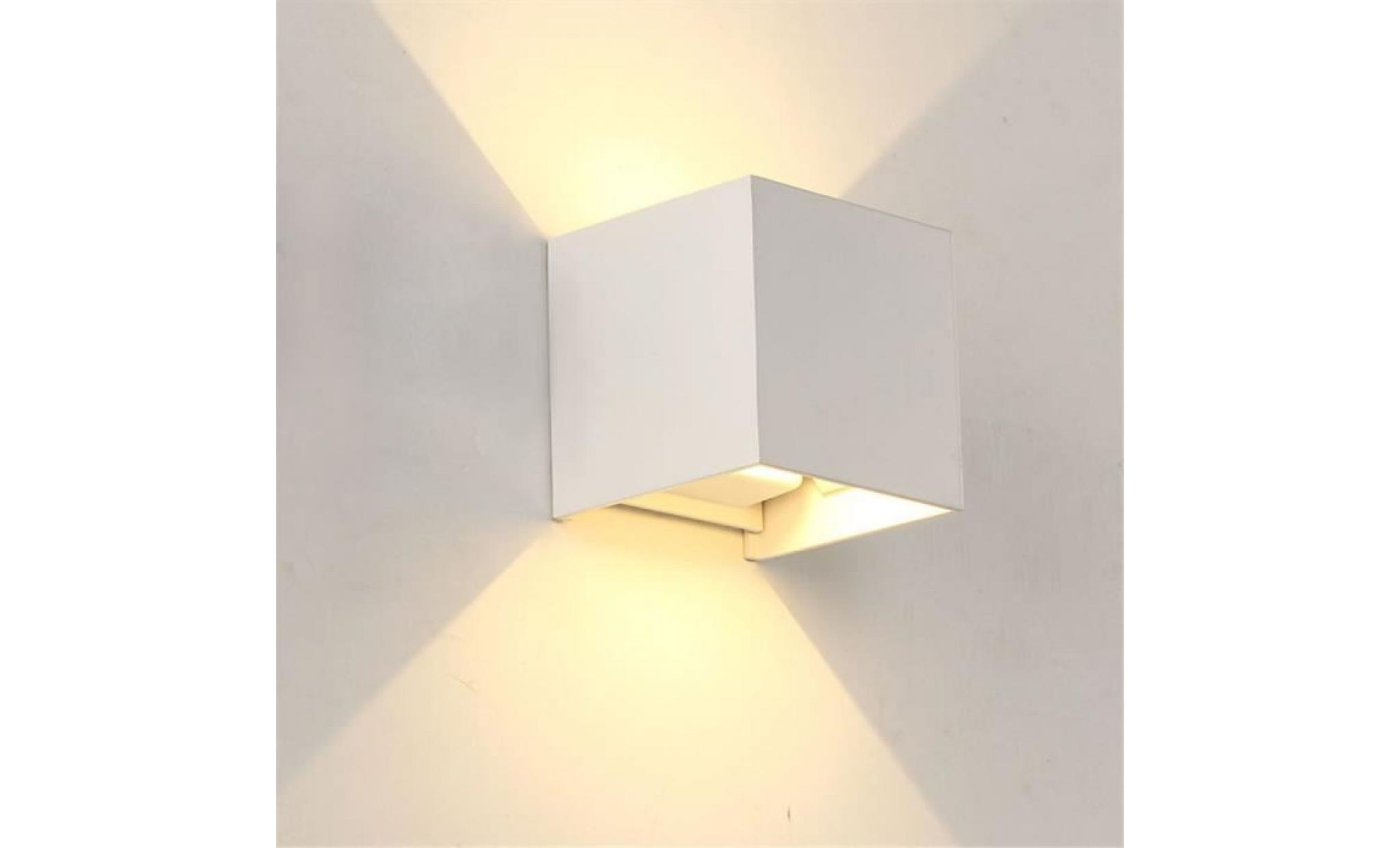 moderne 3w * 2 led wall light up down lampe étanche ip65 accueil applique 8828 pas cher