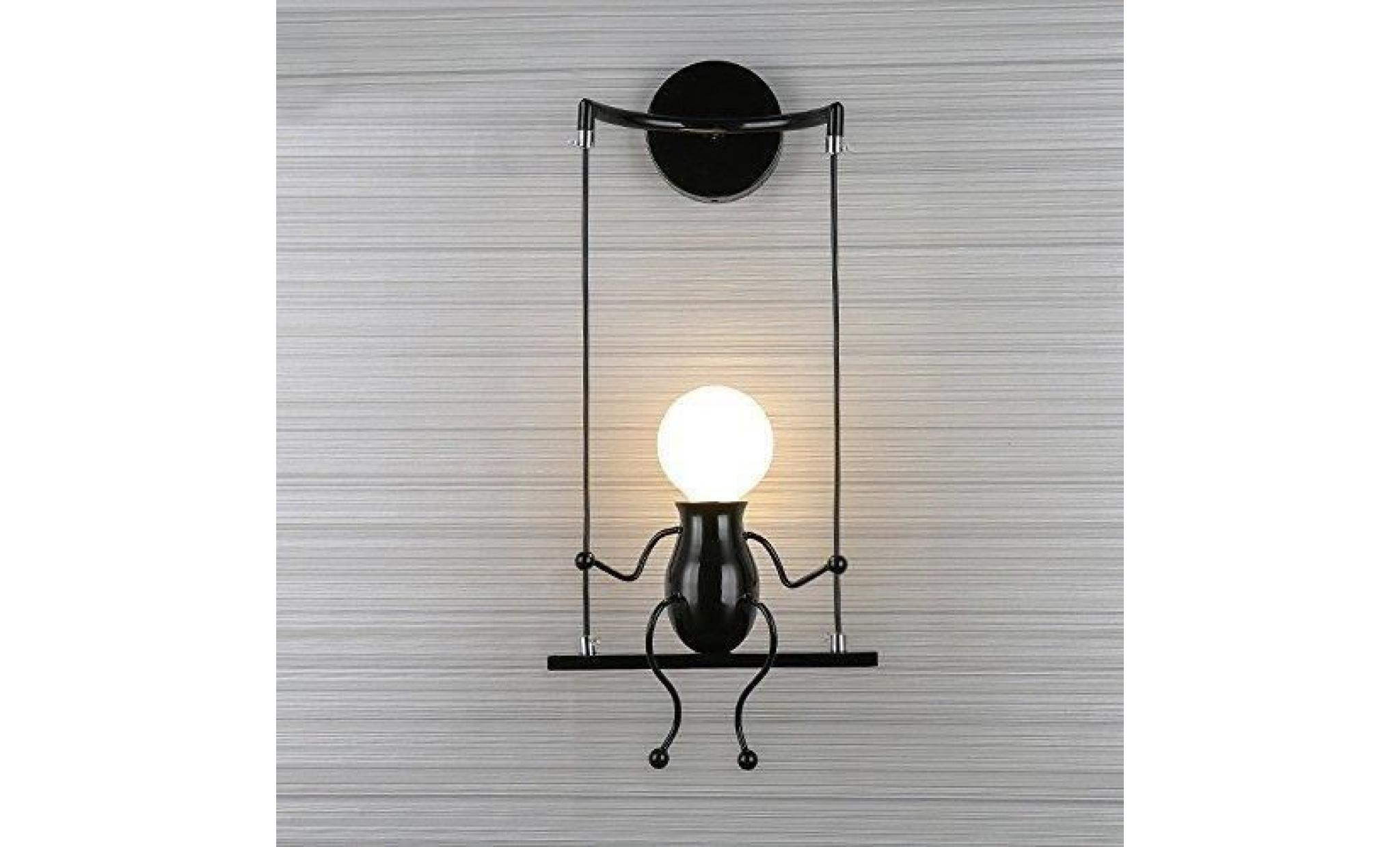 moderne mode applique murale créatif simplicité design appliques pour  chambre d\'enfant eclairage lampe douille e27*1 max. 60w, blanc