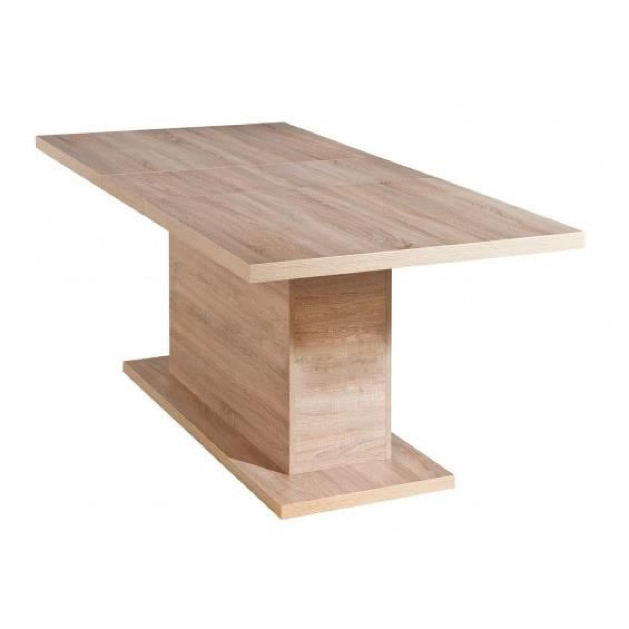 myca table pied central avec allonge achat vente table salle a manger pas cher couleur et. Black Bedroom Furniture Sets. Home Design Ideas