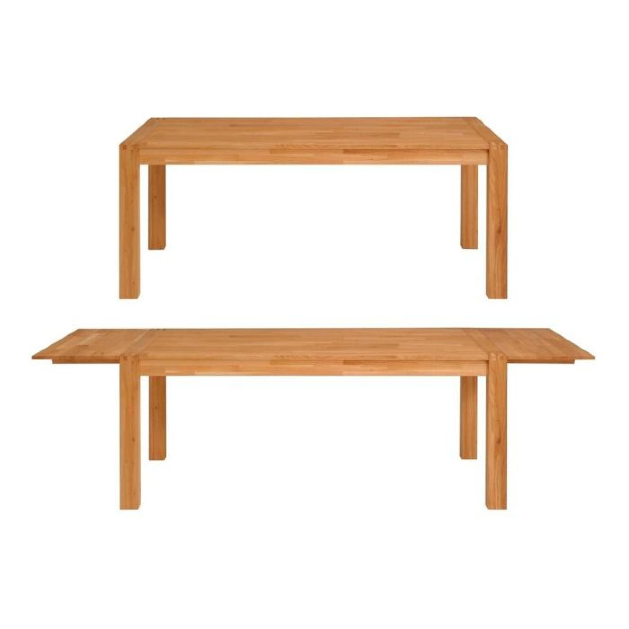 Nathan table extensible 180 260cm en ch ne massif achat - Table extensible chene ...