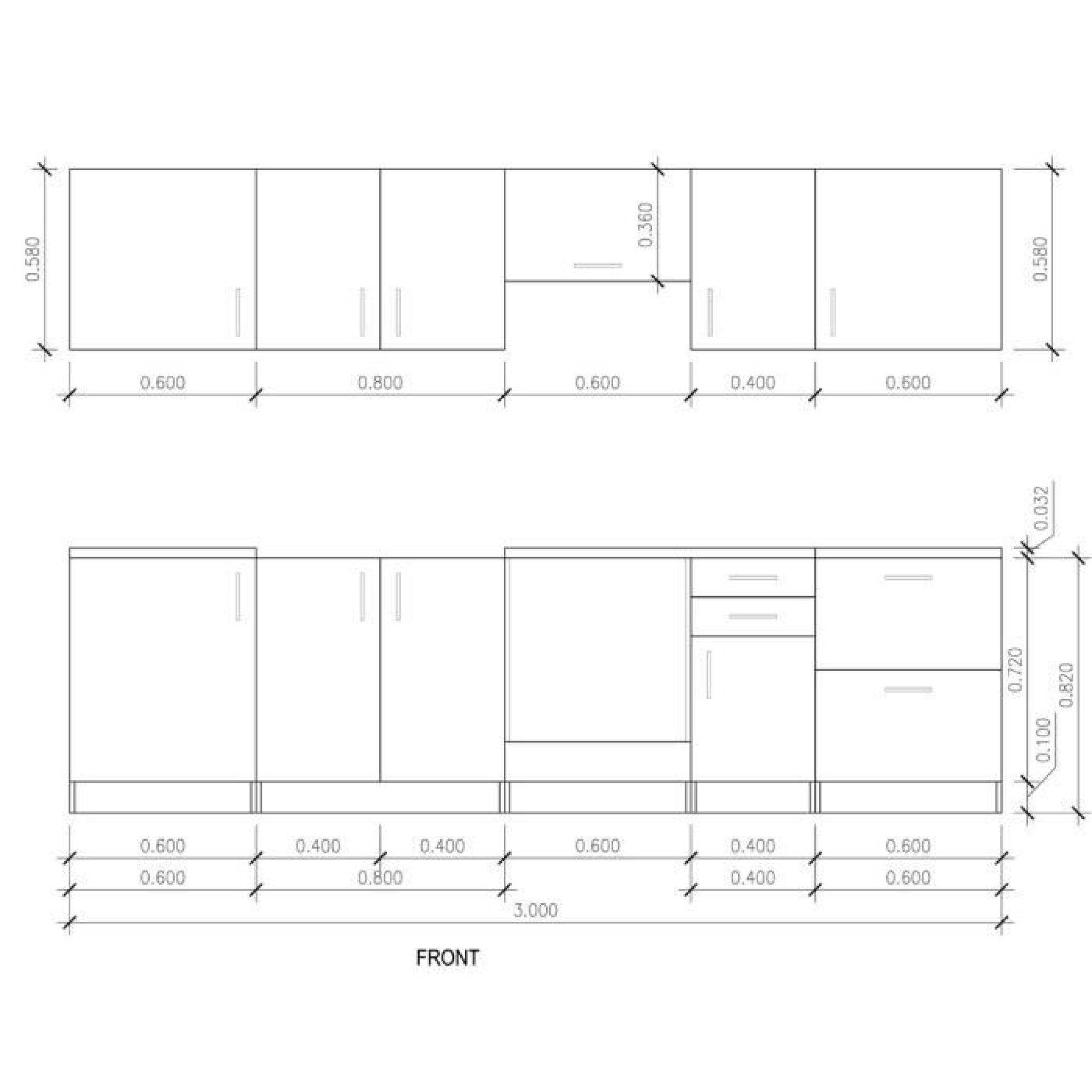 cuisine lineaire 3m m lineaire gris argent cuisine en lineaire meilleur de cuisine lineaire u. Black Bedroom Furniture Sets. Home Design Ideas