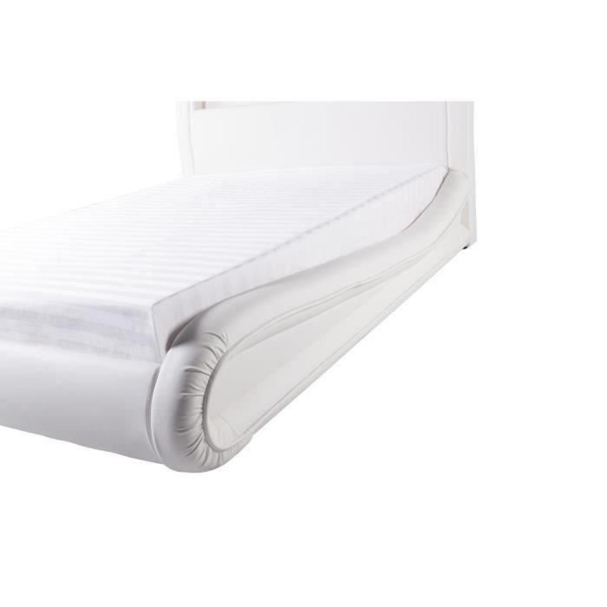 NEPTUNE Lit LED Adulte X Cm Blanc AchatVente Lit Pas Cher - Lit adulte 180x200