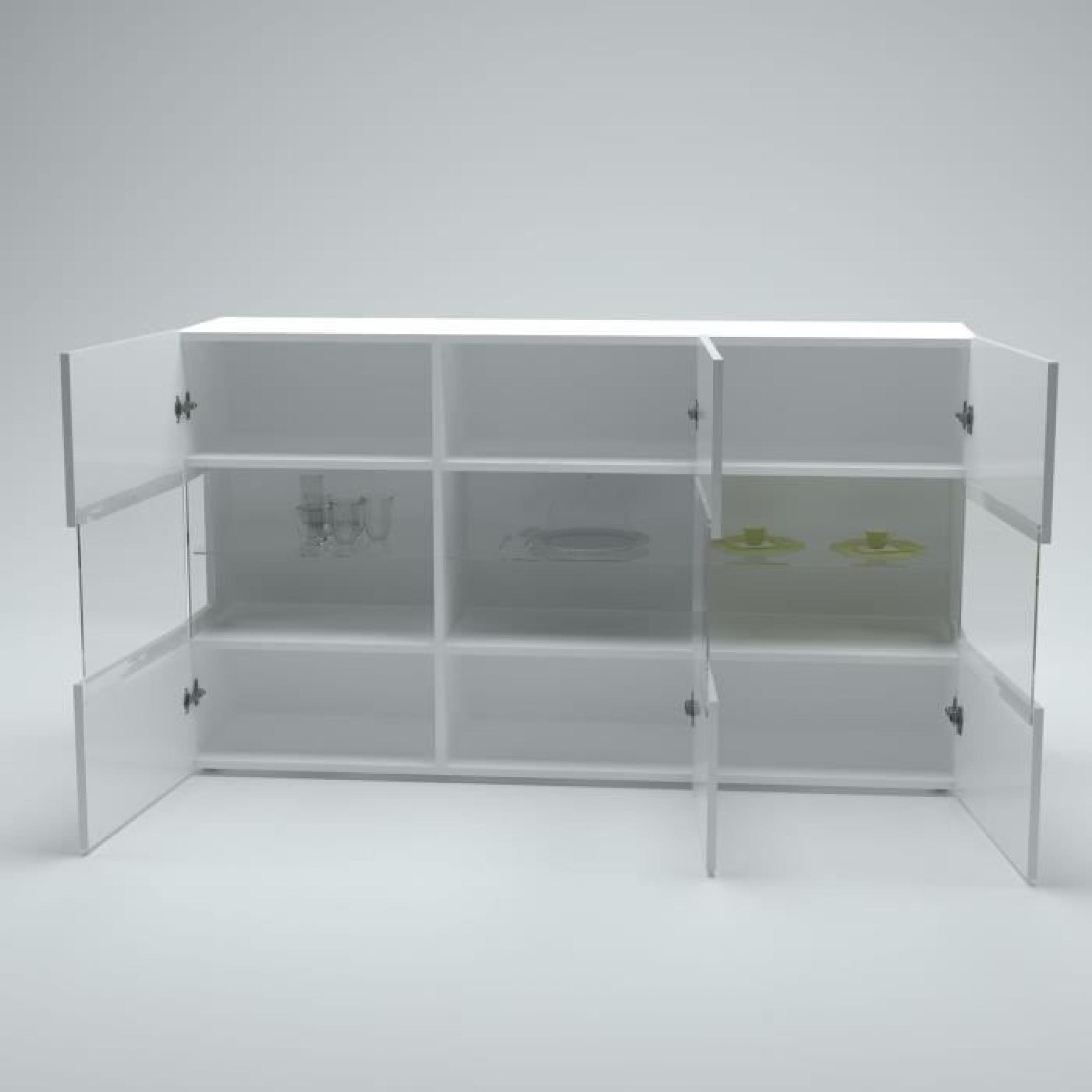 new kiss buffet 150cm laqu blanc achat vente buffet pas. Black Bedroom Furniture Sets. Home Design Ideas
