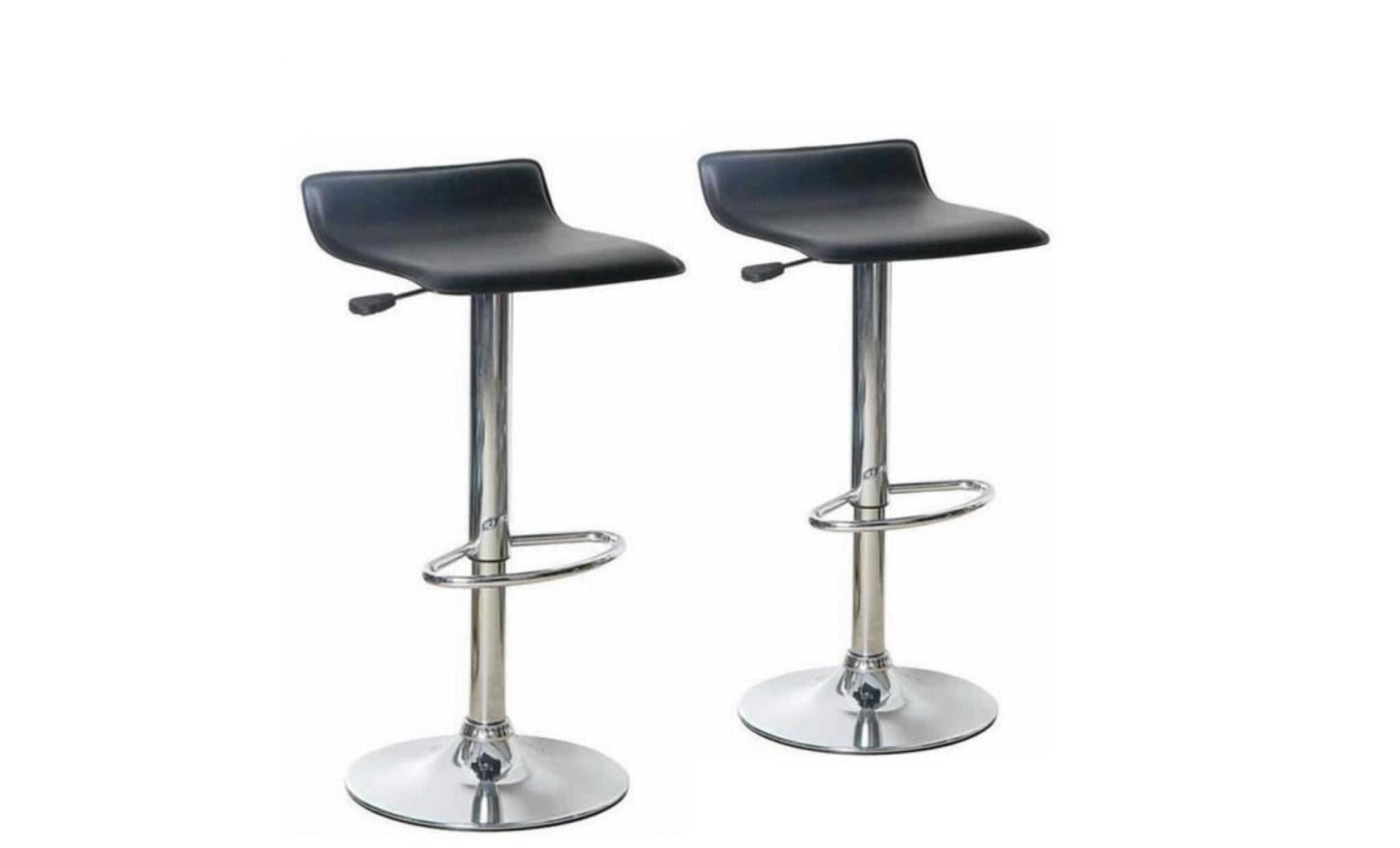 2 Reglable De Tabouret Hauteur Bar Degrees Lot A 360 Noir Chaise Rotatif rWBdxoQCe