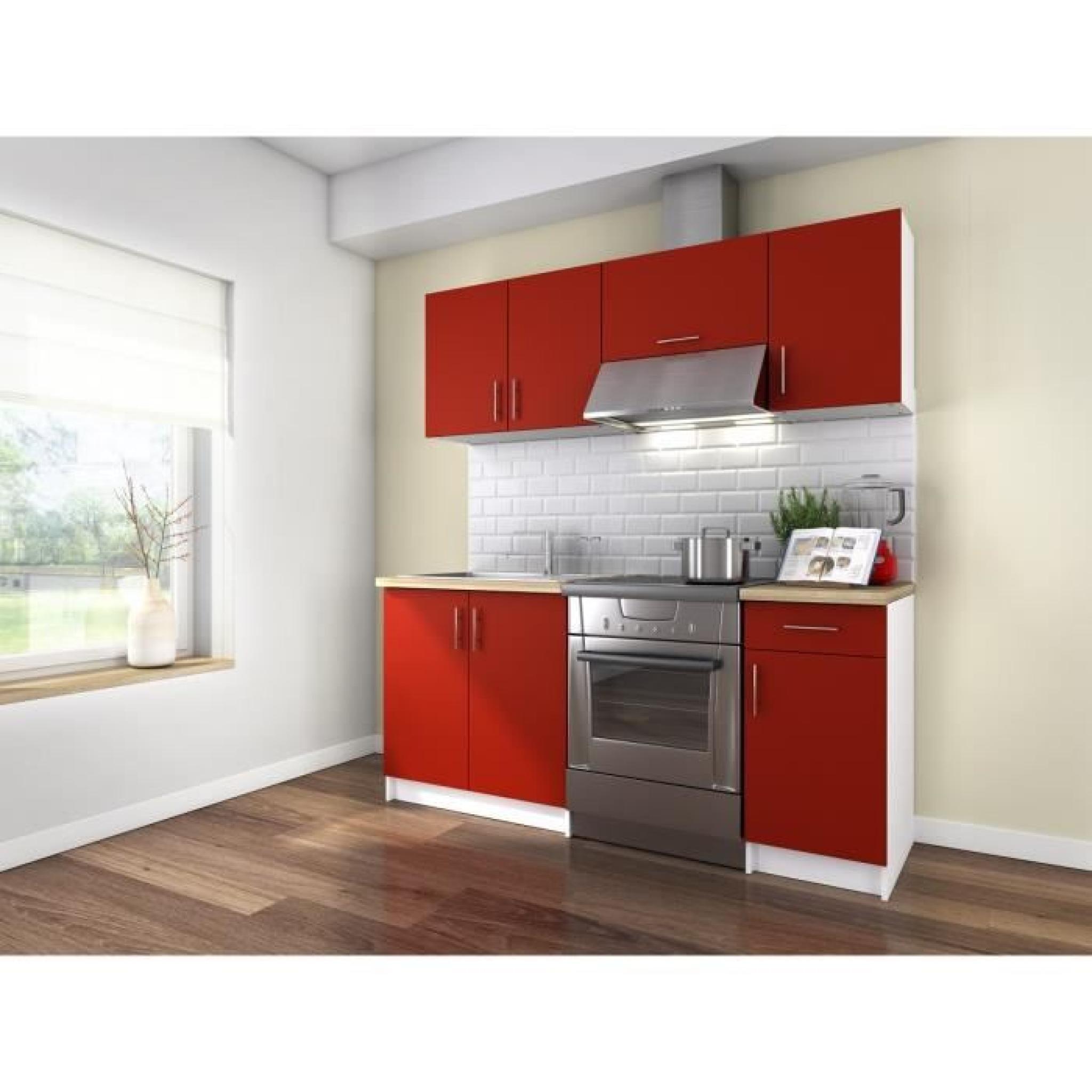 Obi cuisine compl te 1m80 rouge mat achat vente for Cuisine complete design