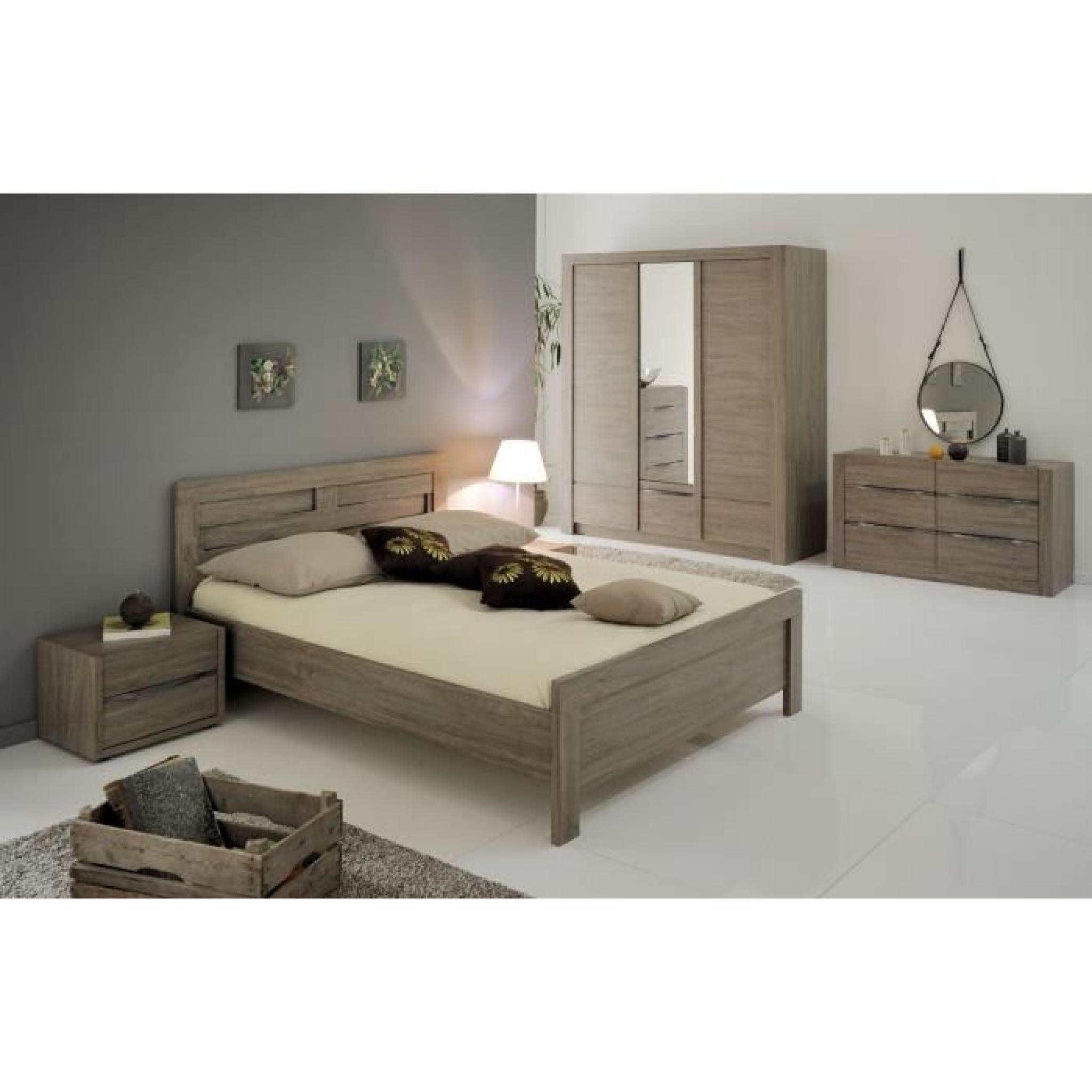 lit salan 140x190 ch ne oxford achat vente lit pas cher couleur et. Black Bedroom Furniture Sets. Home Design Ideas