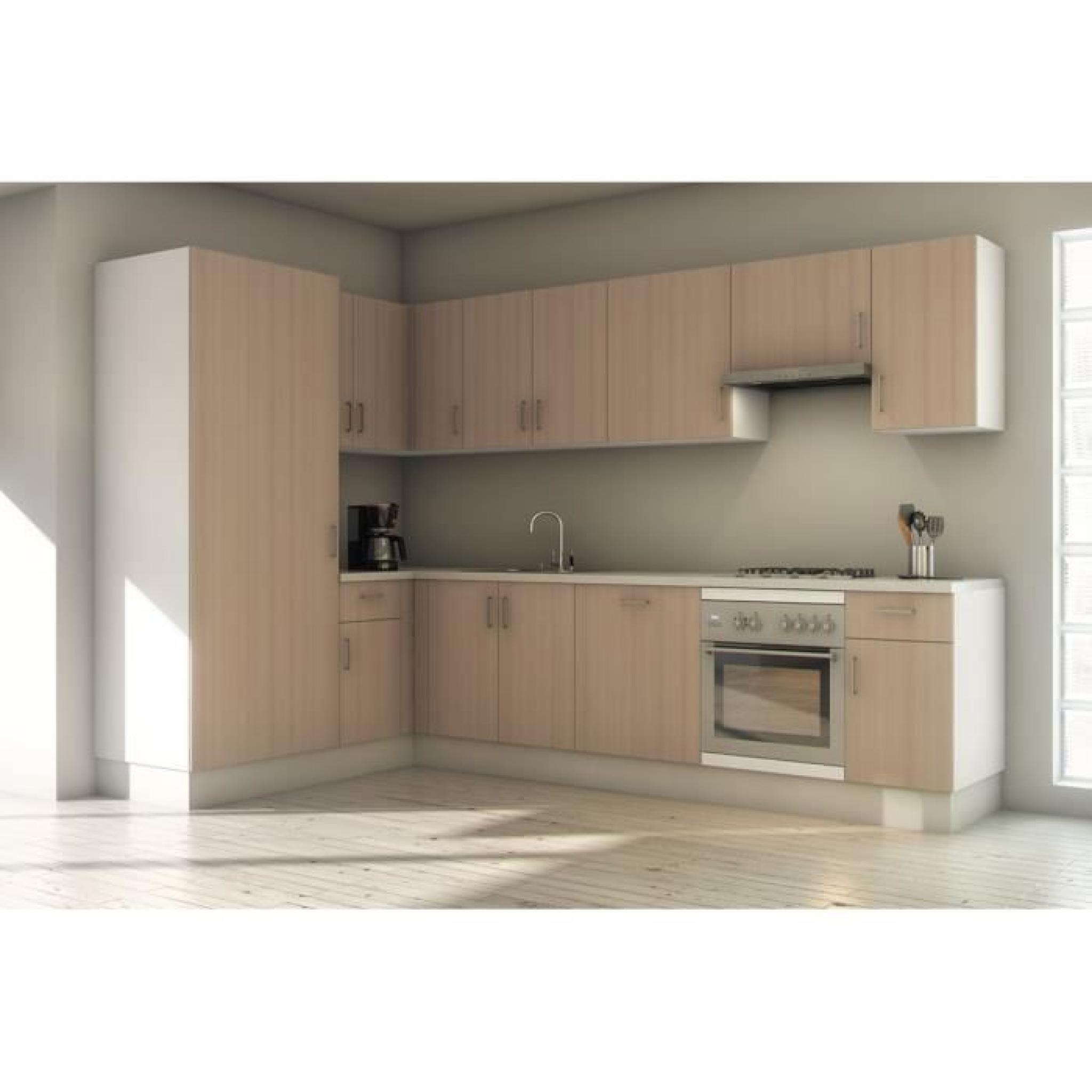 Pack cuisine compl te sudoe h tre 340cm meubl achat for Cuisine complete design