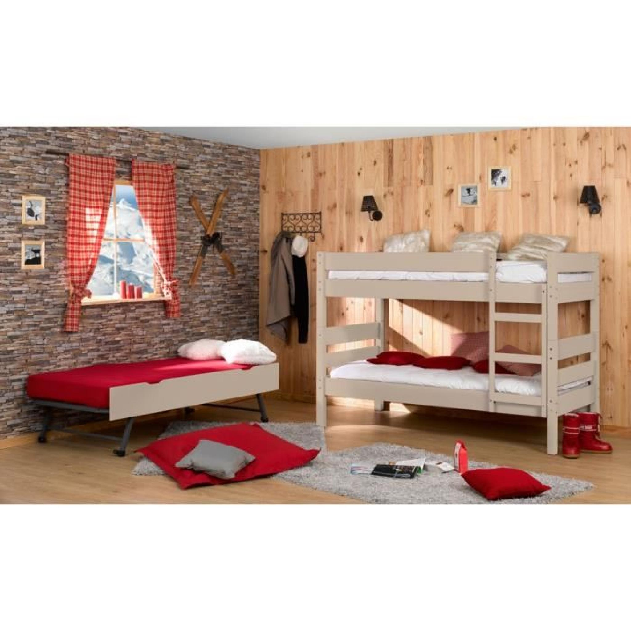 lit superpos tiroir lit 3 matelas 90x190 lin achat vente lit superpose pas. Black Bedroom Furniture Sets. Home Design Ideas
