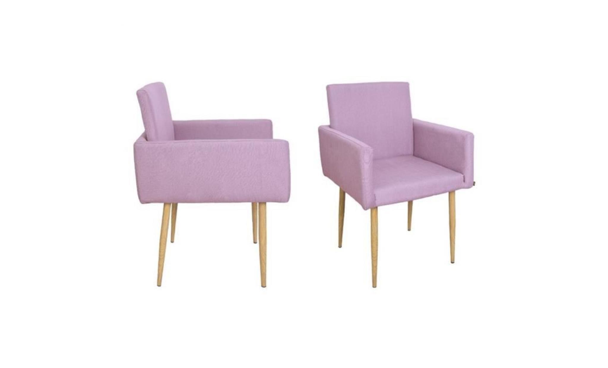 pav fauteuil en tissu 55x58xh90cm rose
