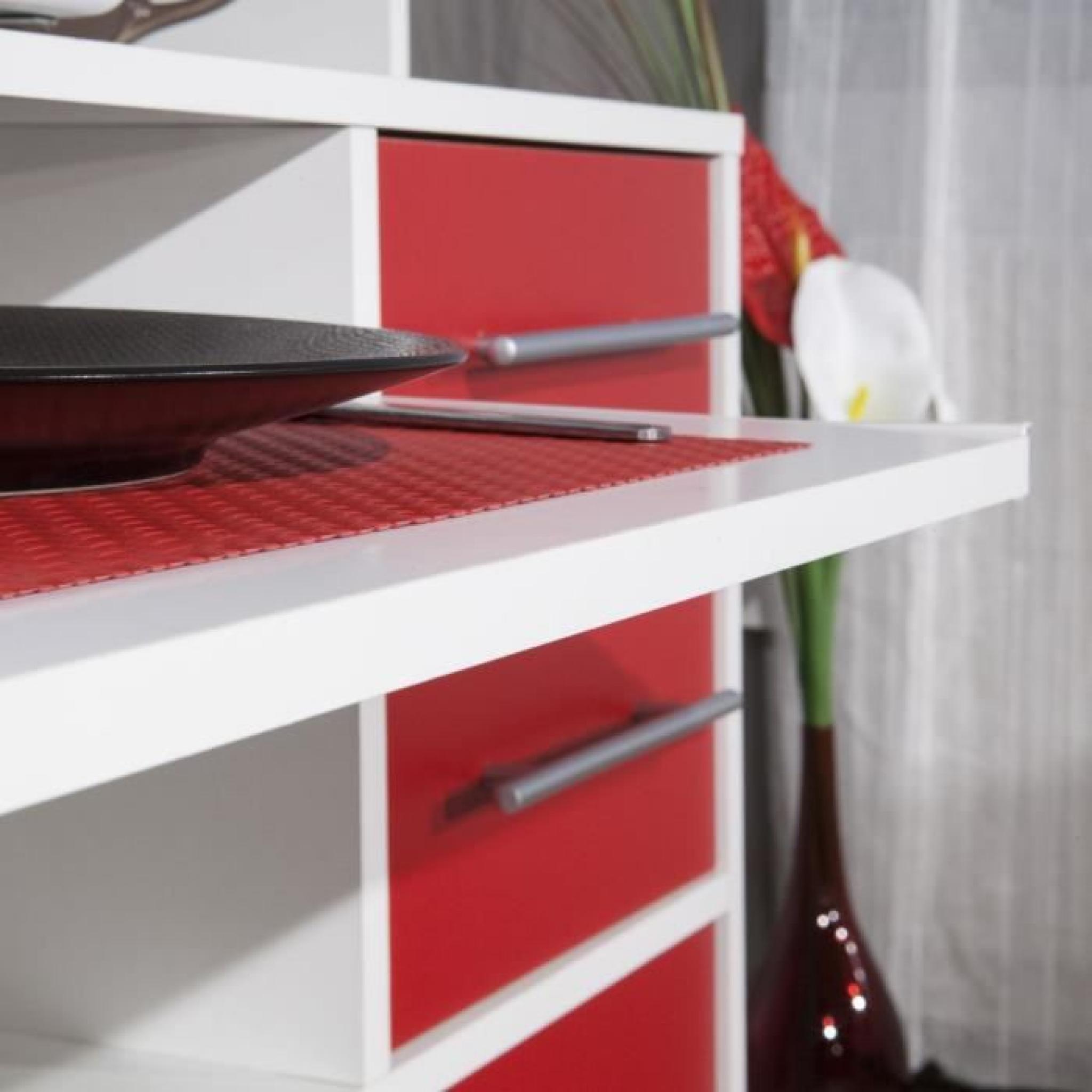 peps buffet de cuisine 89cm rouge et blanc achat vente. Black Bedroom Furniture Sets. Home Design Ideas