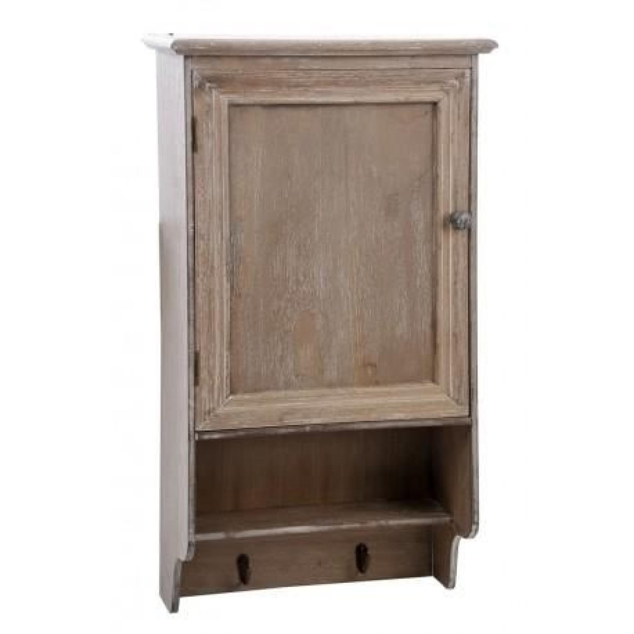 petite armoire murale 1 porte en bois brut blanchi 42x20x79cm j line achat vente armoire de. Black Bedroom Furniture Sets. Home Design Ideas