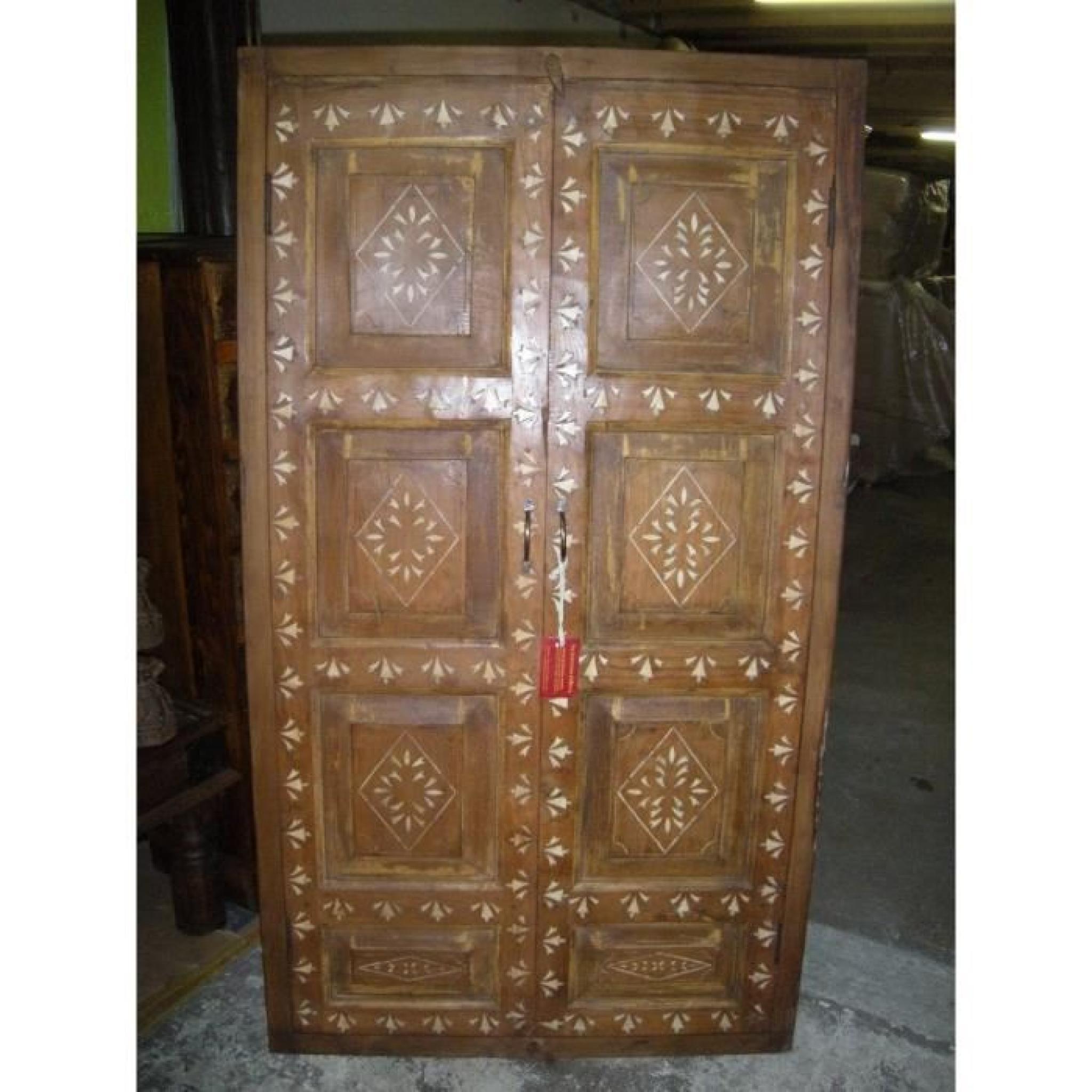 petite porte de placard teck achat vente dressing pas cher couleur et. Black Bedroom Furniture Sets. Home Design Ideas