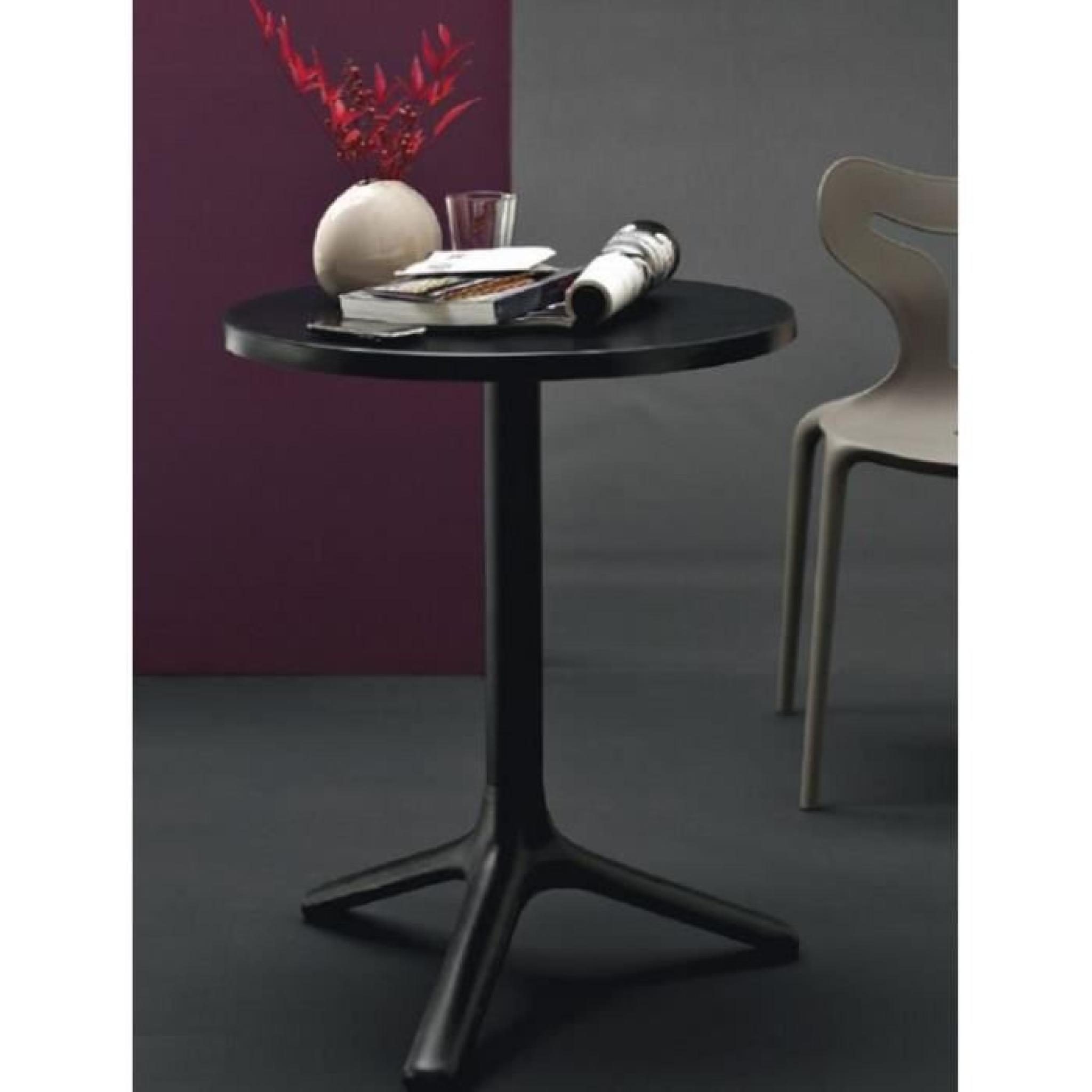 Petite Table Ronde Area T 60x60 Noire De Calligaris Achat Vente
