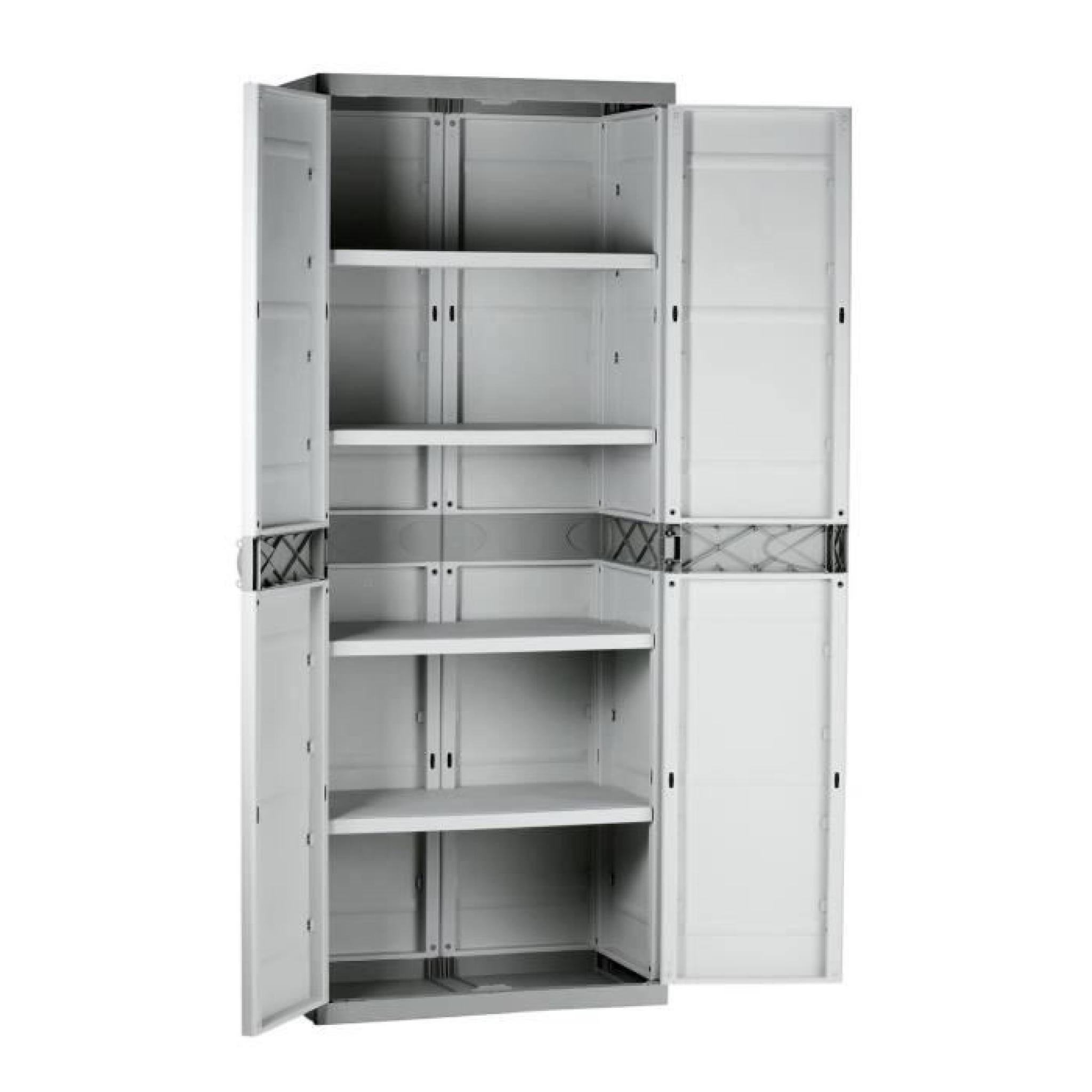PLASTIKEN Armoire de rangement résine 4 étagères - Achat/Vente armoire de chambre pas cher ...