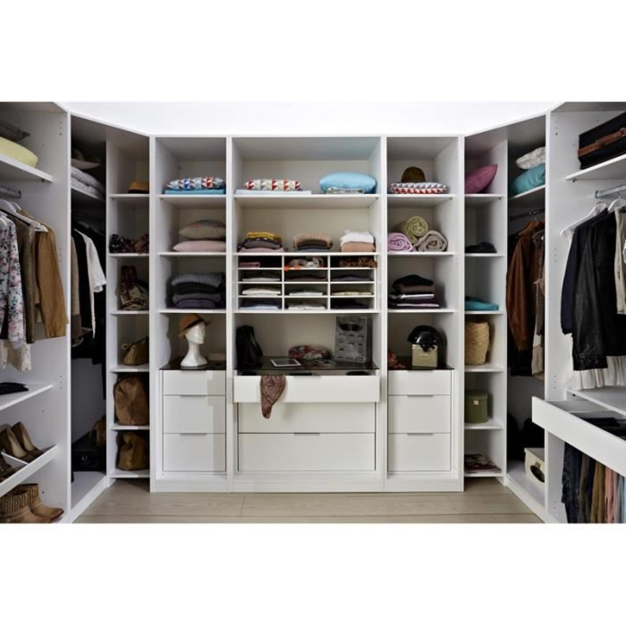 porte coulissante dressing 100cm facility blanc brillant paris prix achat vente dressing. Black Bedroom Furniture Sets. Home Design Ideas