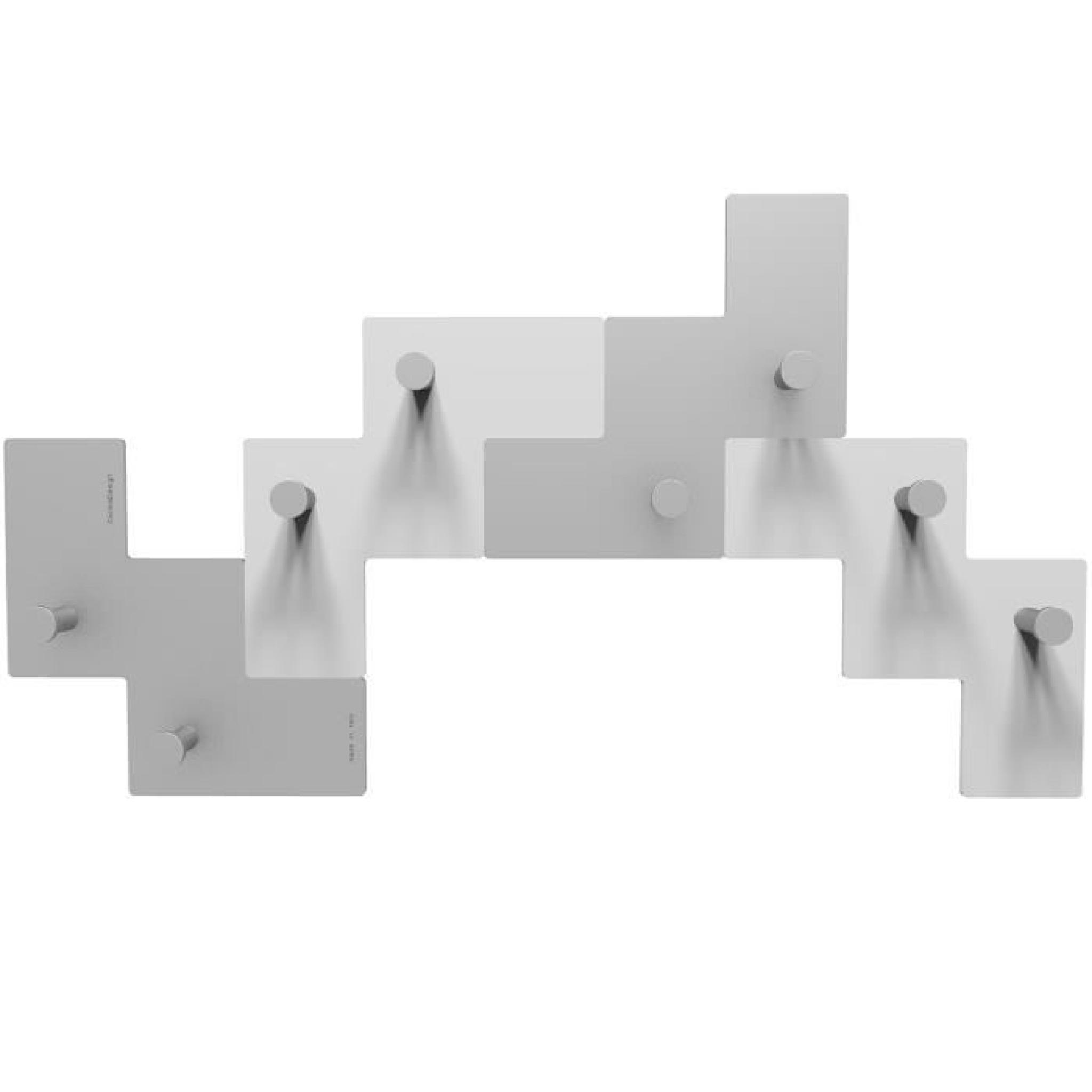 awesome armoire de chambre pas cher 5 porte manteaux design cloclo couleur aluminium. Black Bedroom Furniture Sets. Home Design Ideas