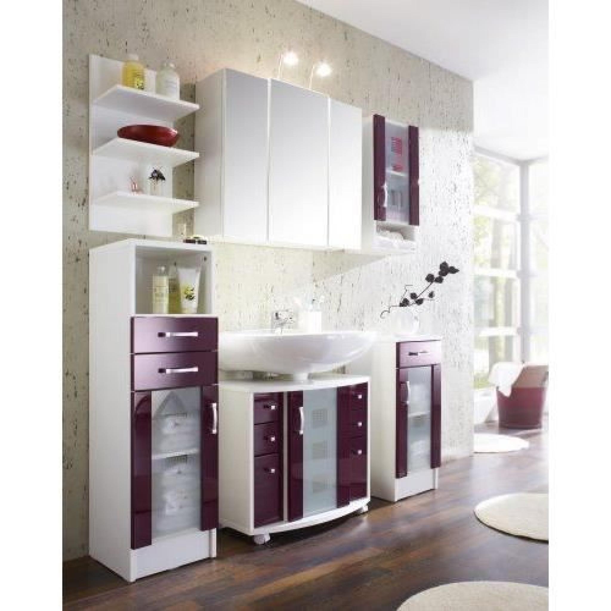 Posseik 5404 89 armoire suspendue nizza nizas m re brillant blanc achat vente armoire de - Armoire suspendue chambre ...