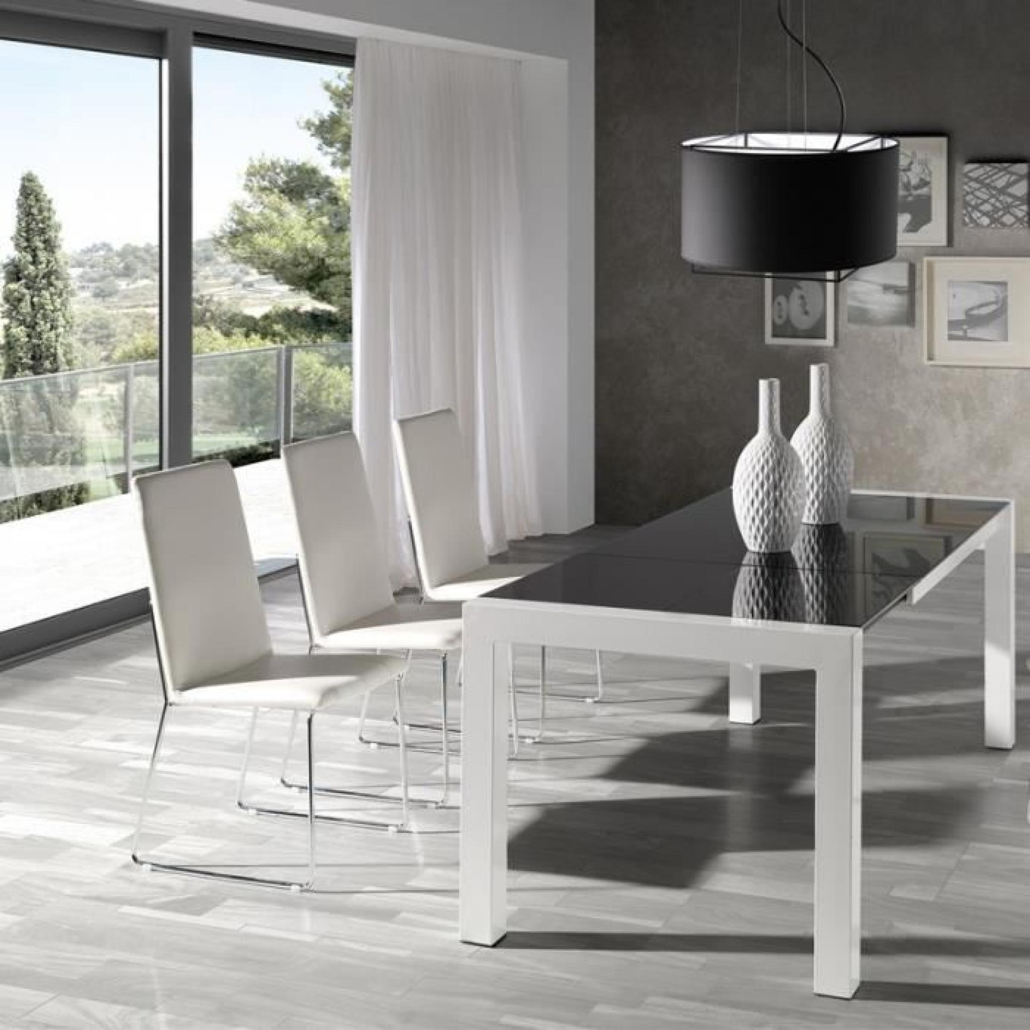 #6B715A Quatuor De Chaises PU Blanc TURIN Achat/Vente Chaise  4159 vente salle a manger pas cher 2048x2048 px @ aertt.com